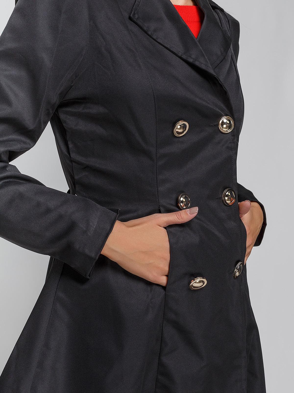 Пальто черное | 3612011 | фото 4