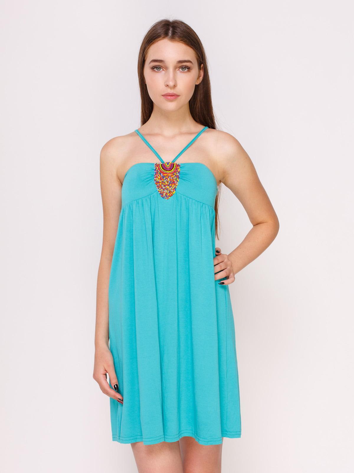 Платье бирюзовое   4620360