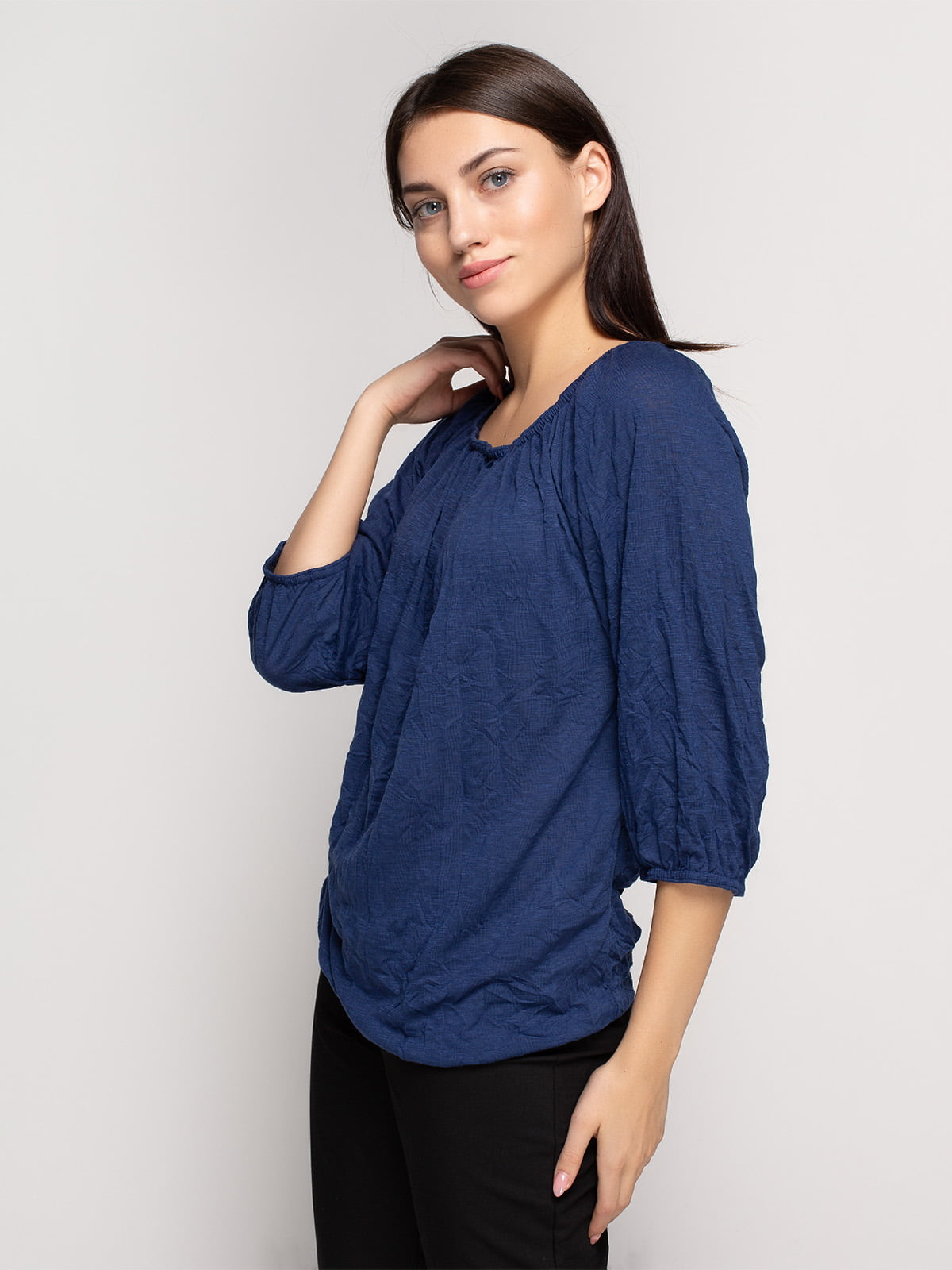 Блуза кольору індиго | 4618515