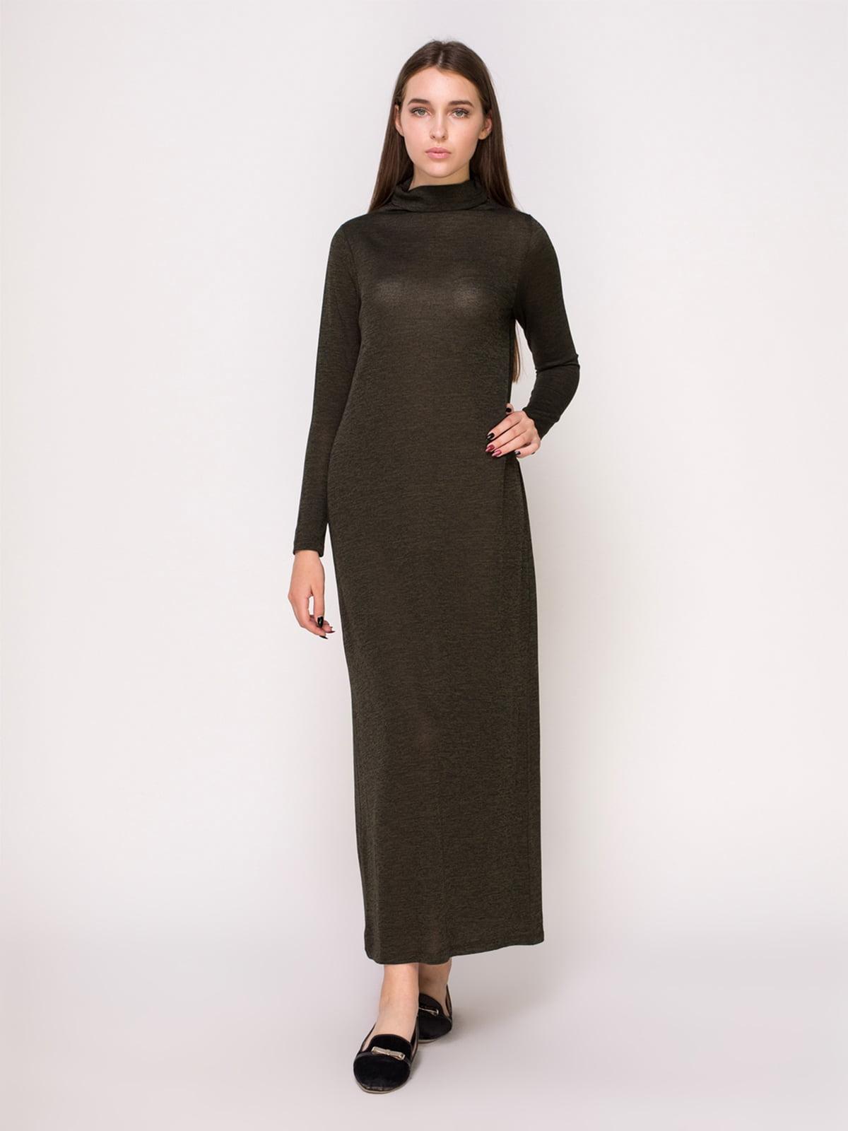 Сукня кольору хакі   4621529