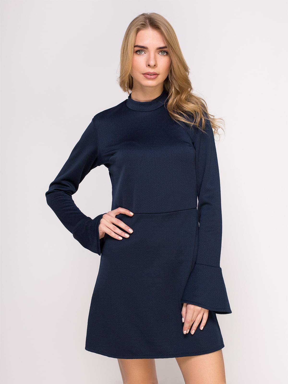 Сукня темно-синя з візерунком | 4621541