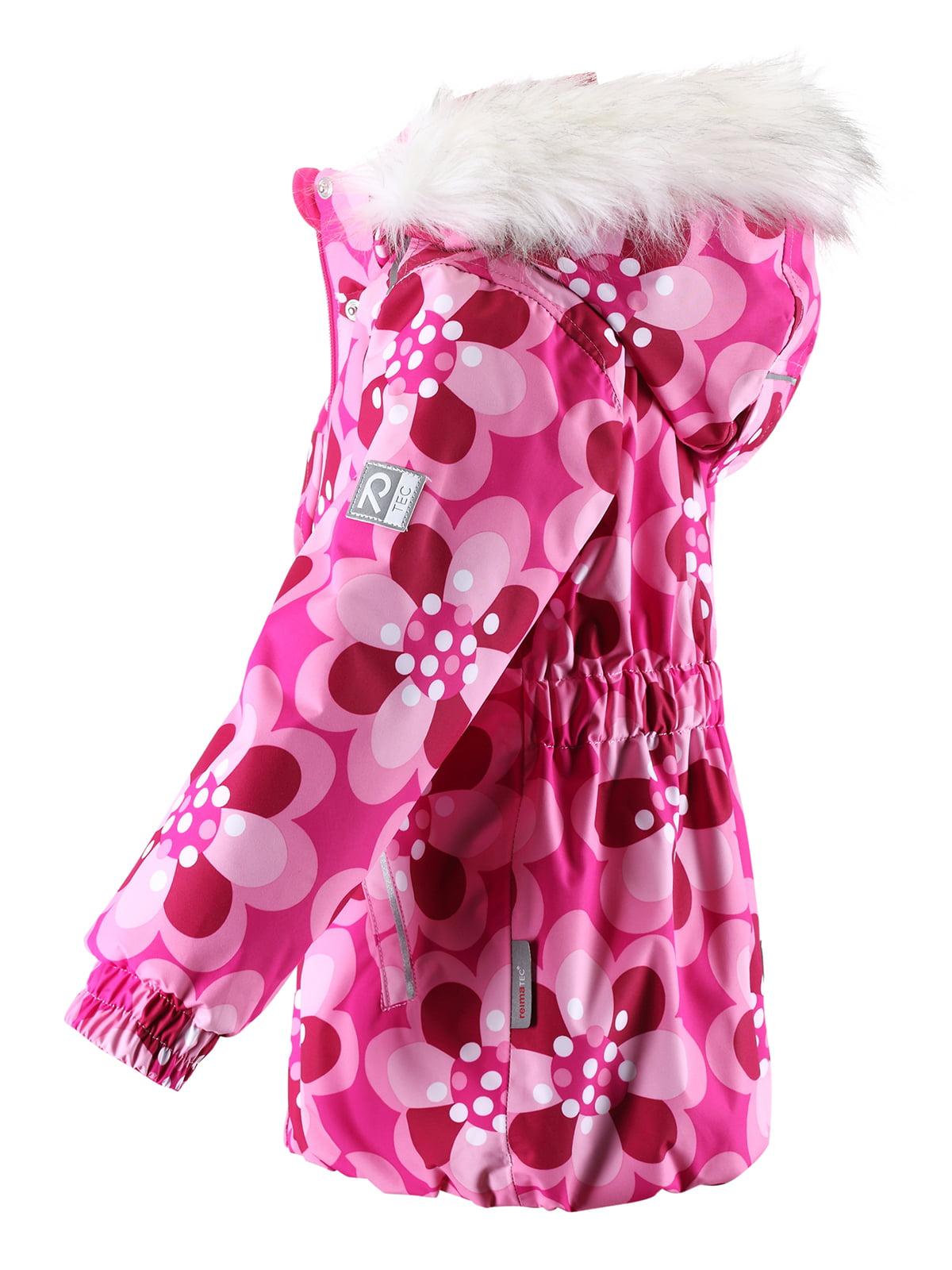 Куртка світло-рожева в принт з капюшоном | 1378054 | фото 3
