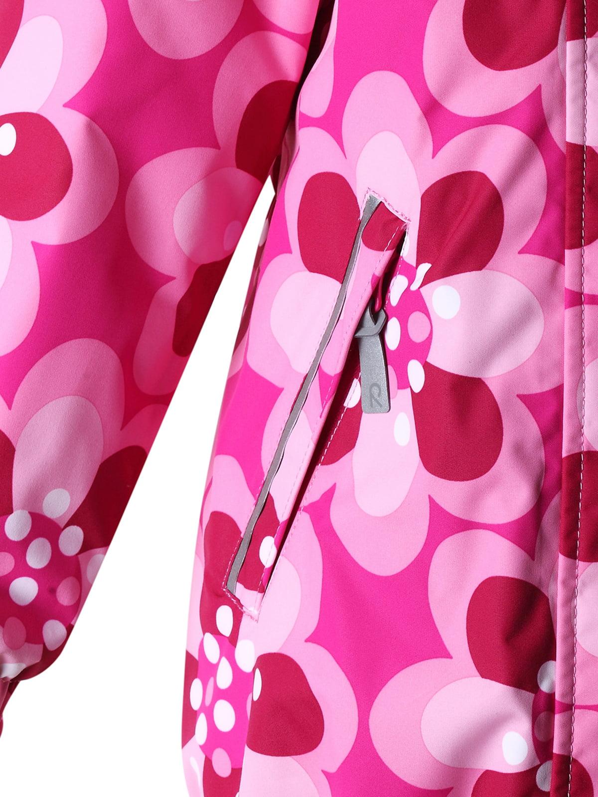 Куртка світло-рожева в принт з капюшоном | 1378054 | фото 4