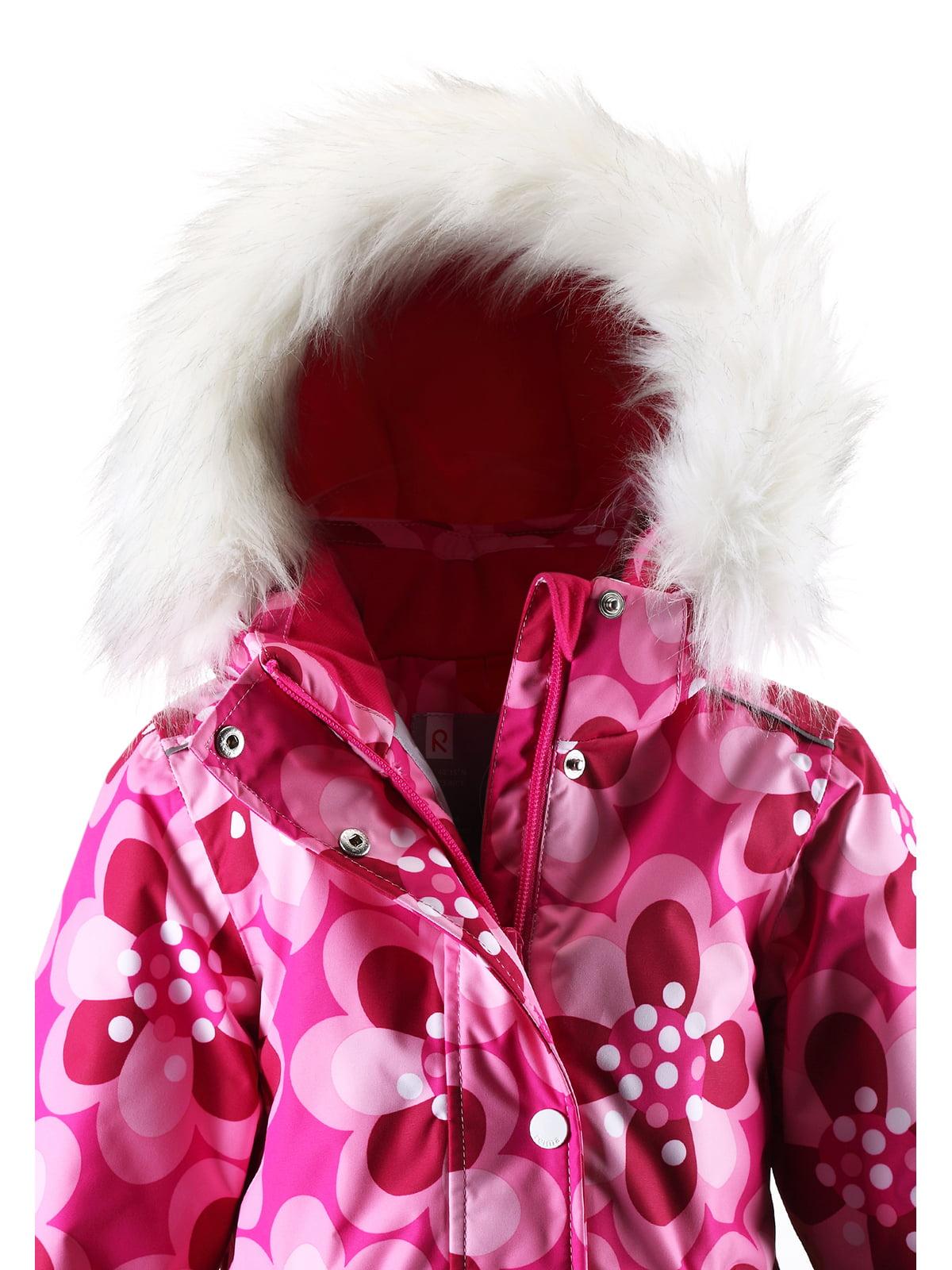 Куртка світло-рожева в принт з капюшоном | 1378054 | фото 5