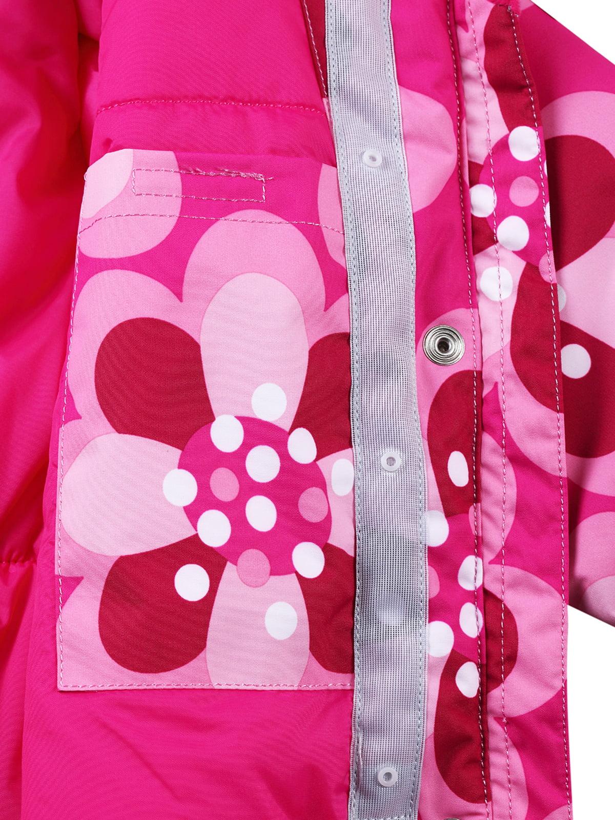 Куртка світло-рожева в принт з капюшоном | 1378054 | фото 6
