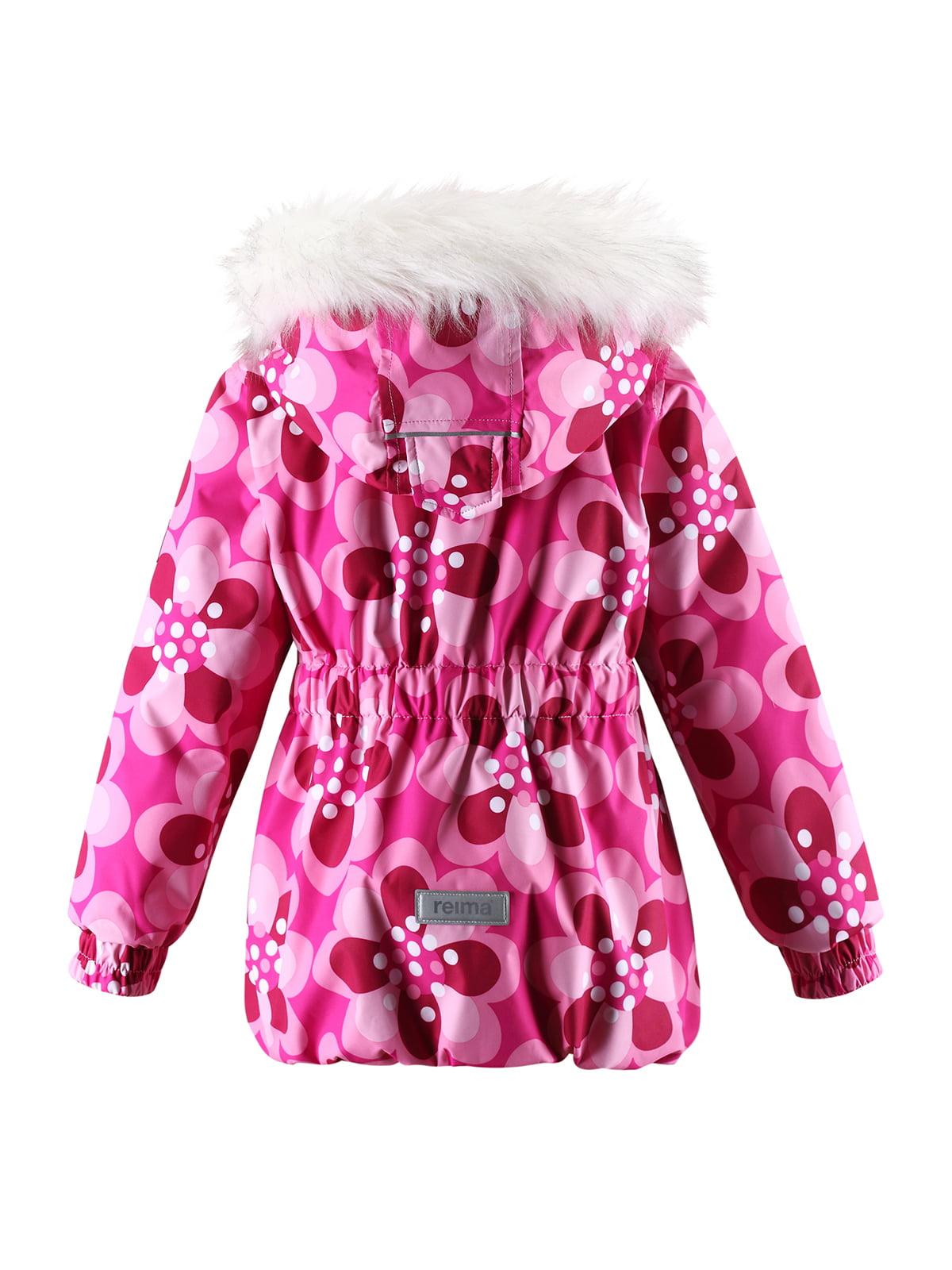 Куртка світло-рожева в принт з капюшоном | 1378054 | фото 7