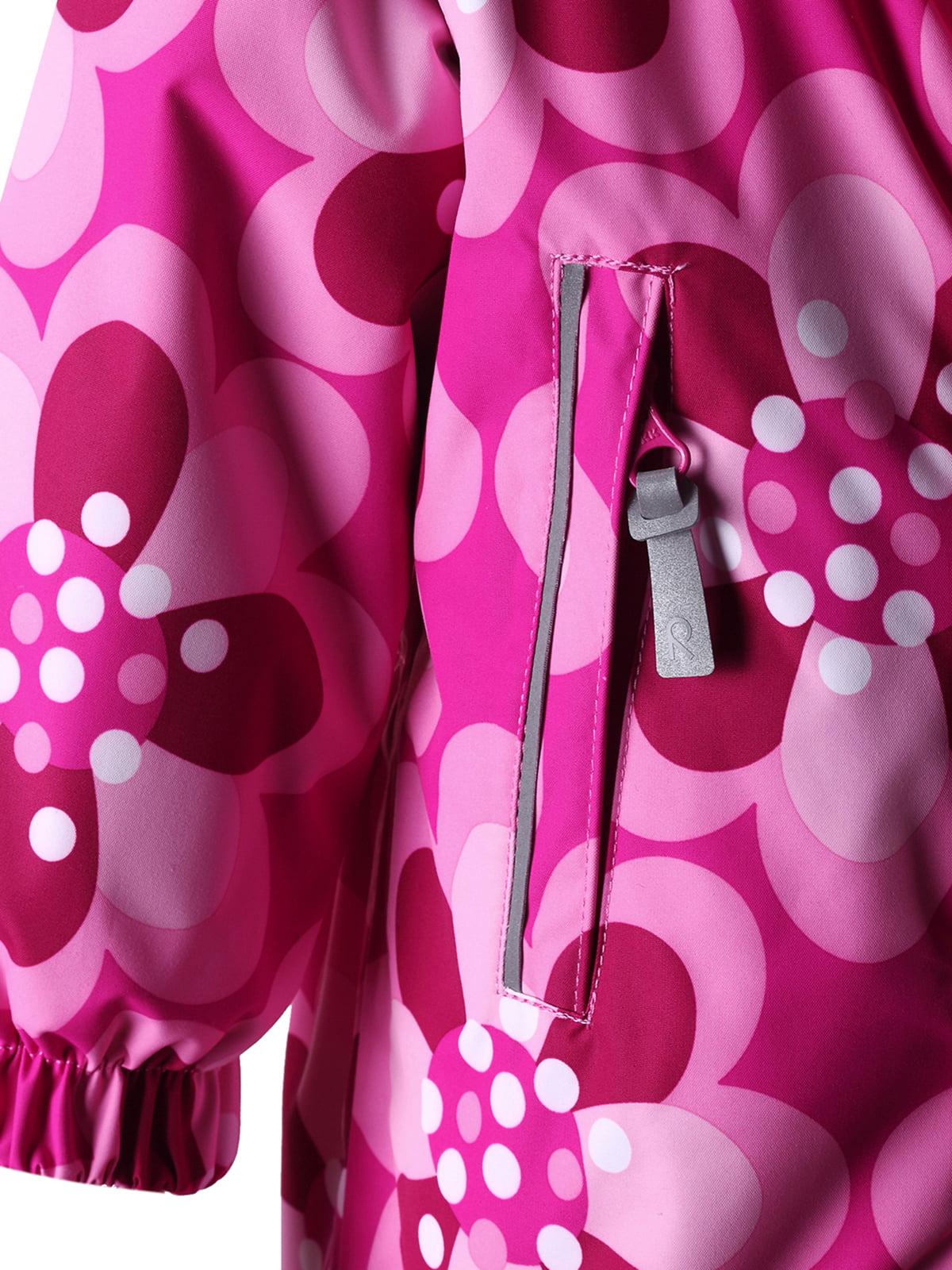 Комбинезон розовый в цветочный принт | 1422357 | фото 4