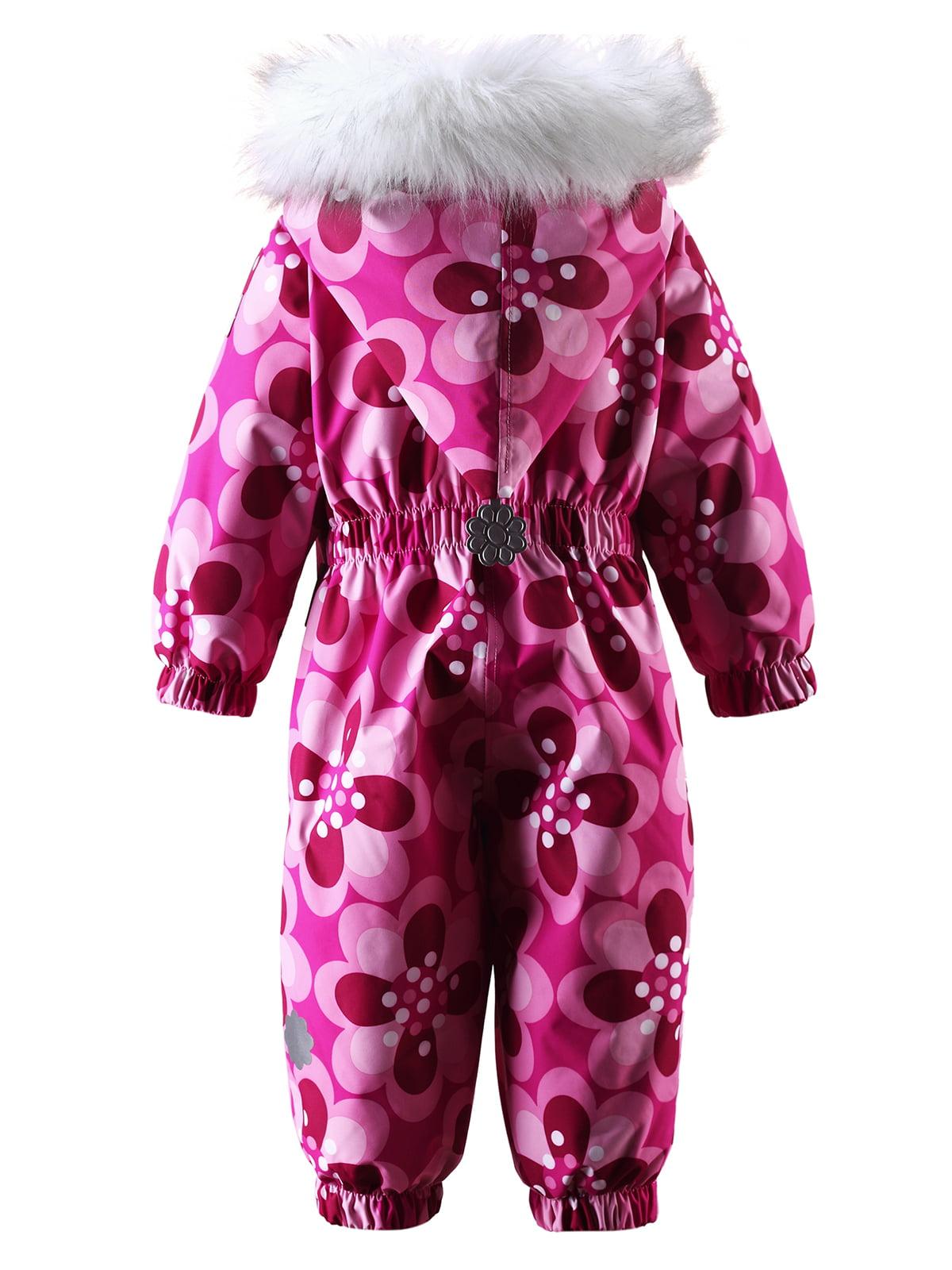 Комбинезон розовый в цветочный принт | 1422357 | фото 6