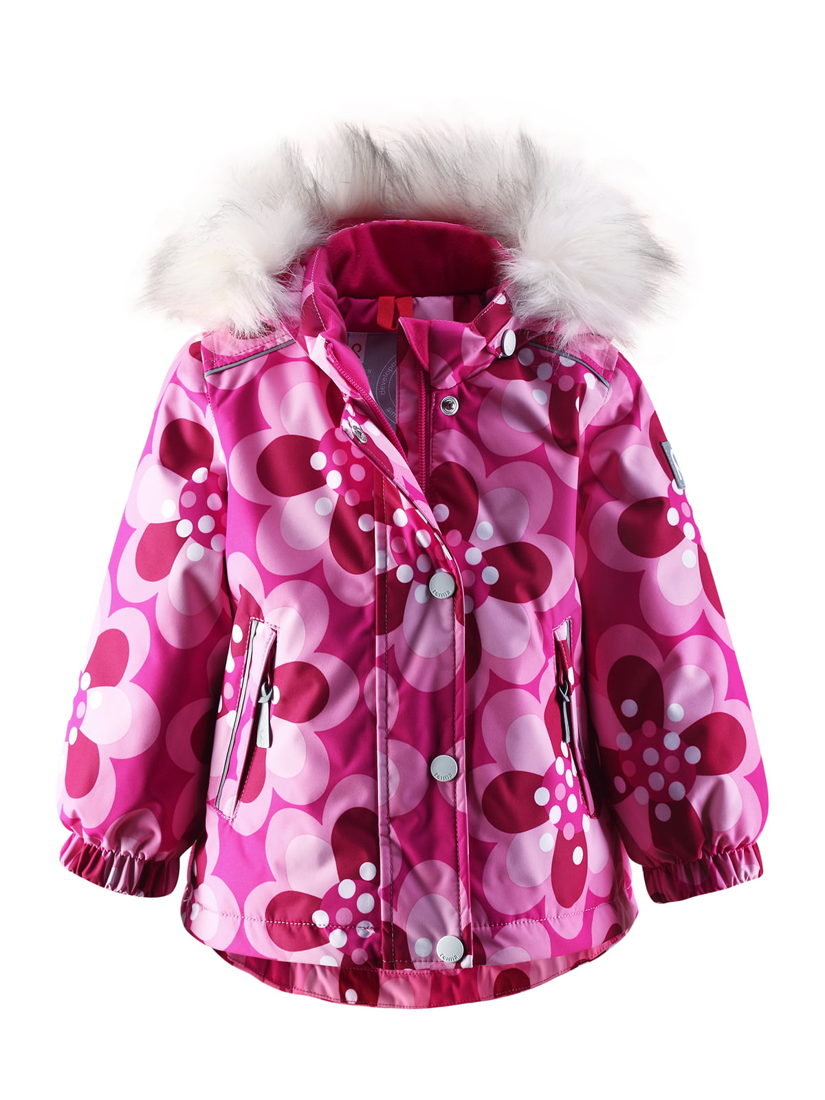 Куртка рожева в квітковий принт | 1422362 | фото 2