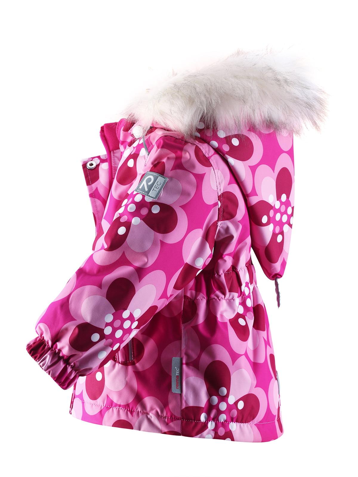 Куртка рожева в квітковий принт | 1422362 | фото 3