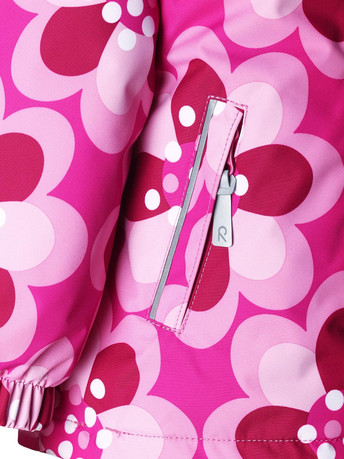 Куртка рожева в квітковий принт | 1422362 | фото 4