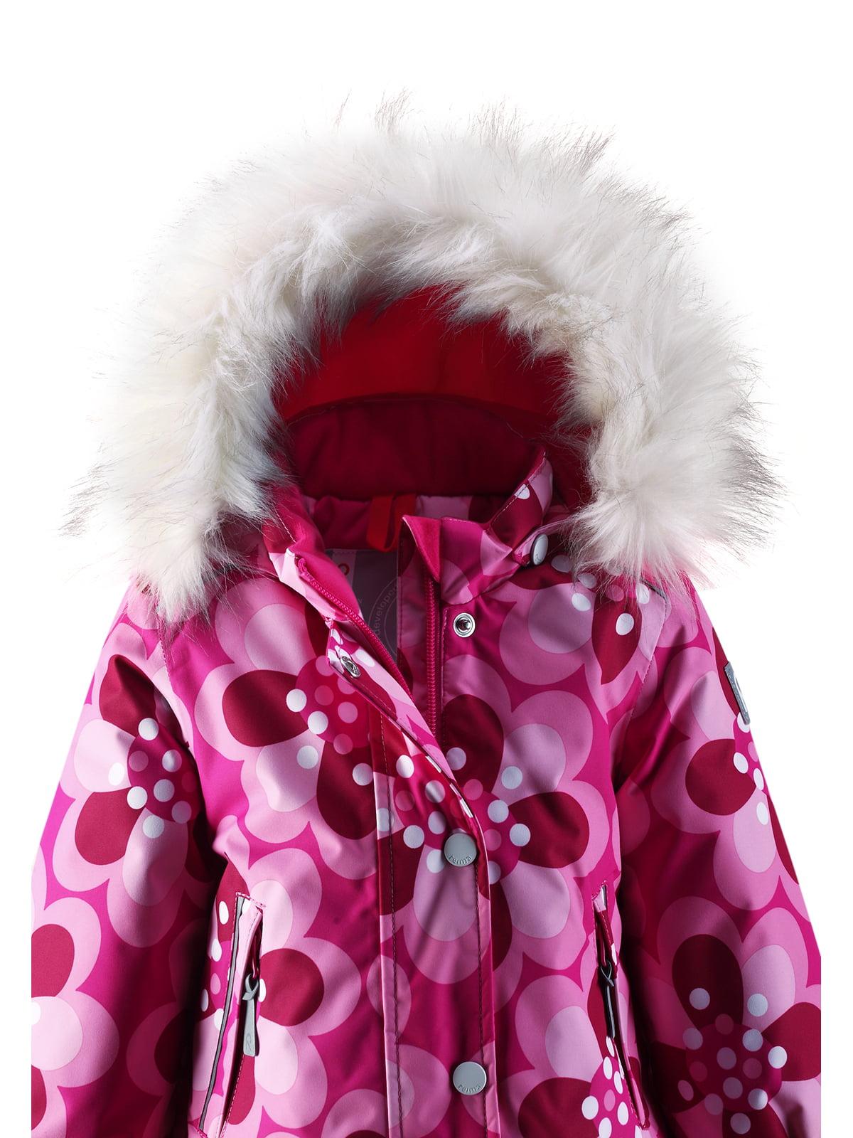 Куртка рожева в квітковий принт | 1422362 | фото 5