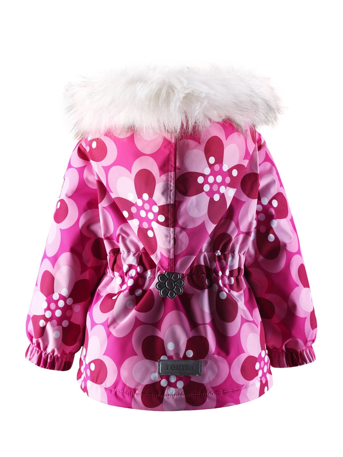 Куртка рожева в квітковий принт | 1422362 | фото 6