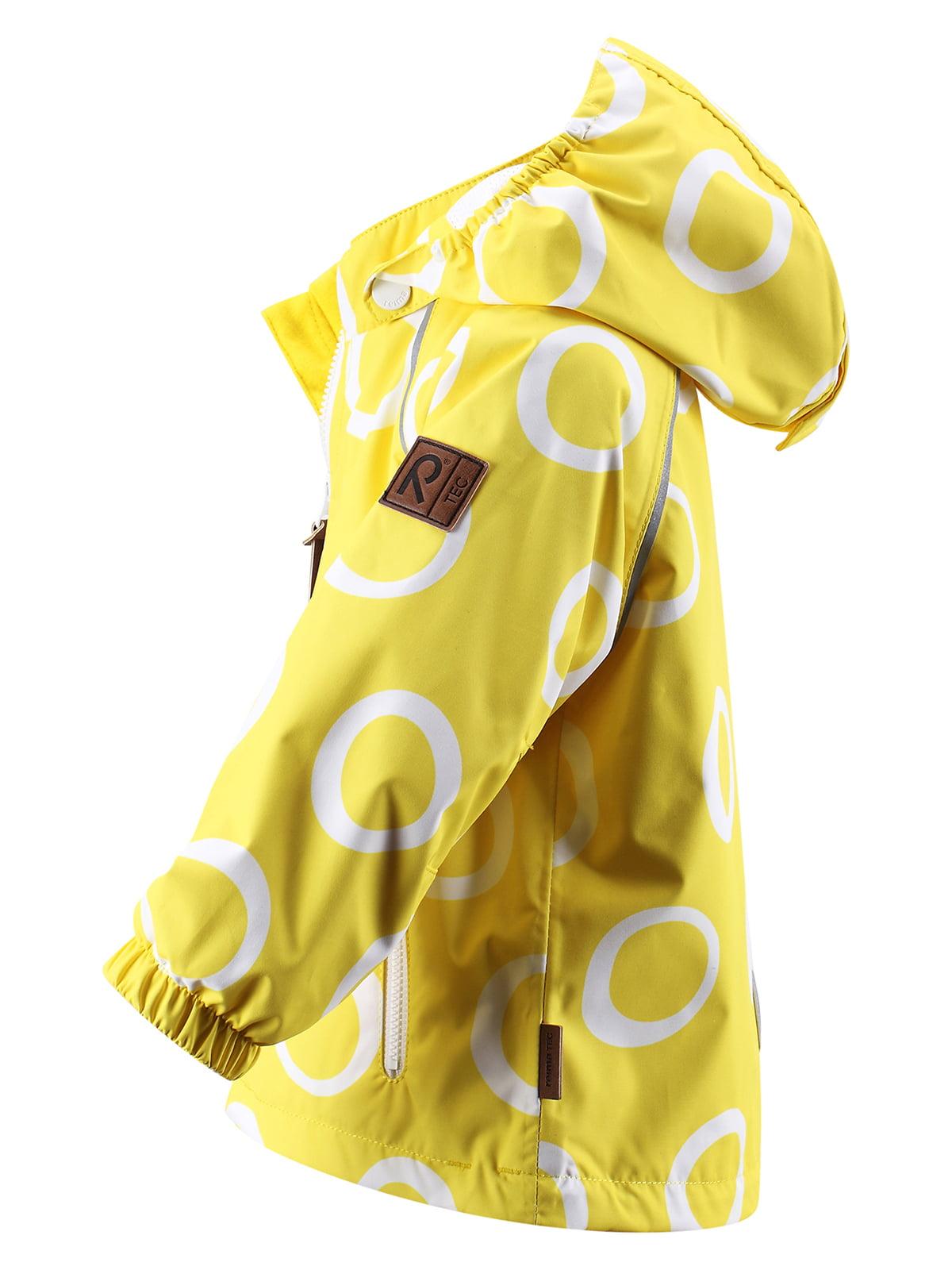 Вітрівка жовта в принт | 1566701 | фото 3