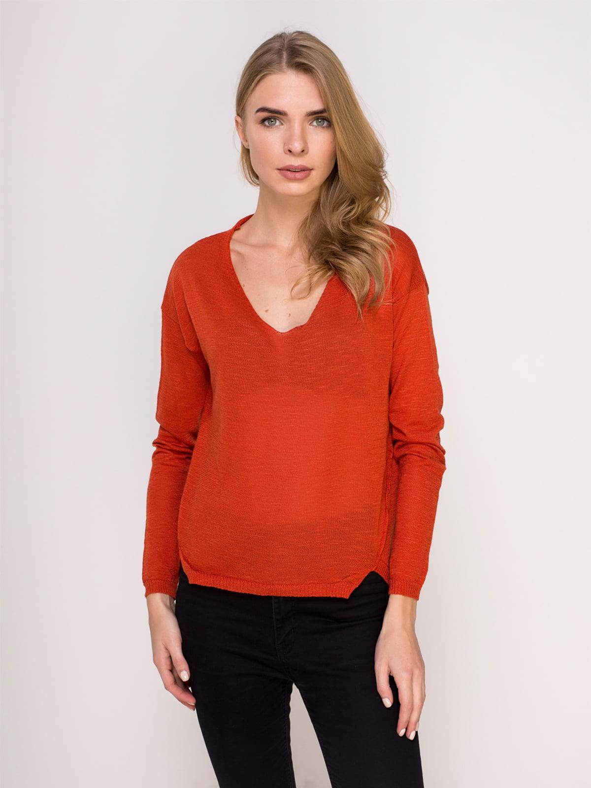 Пуловер теракотовий | 4621578