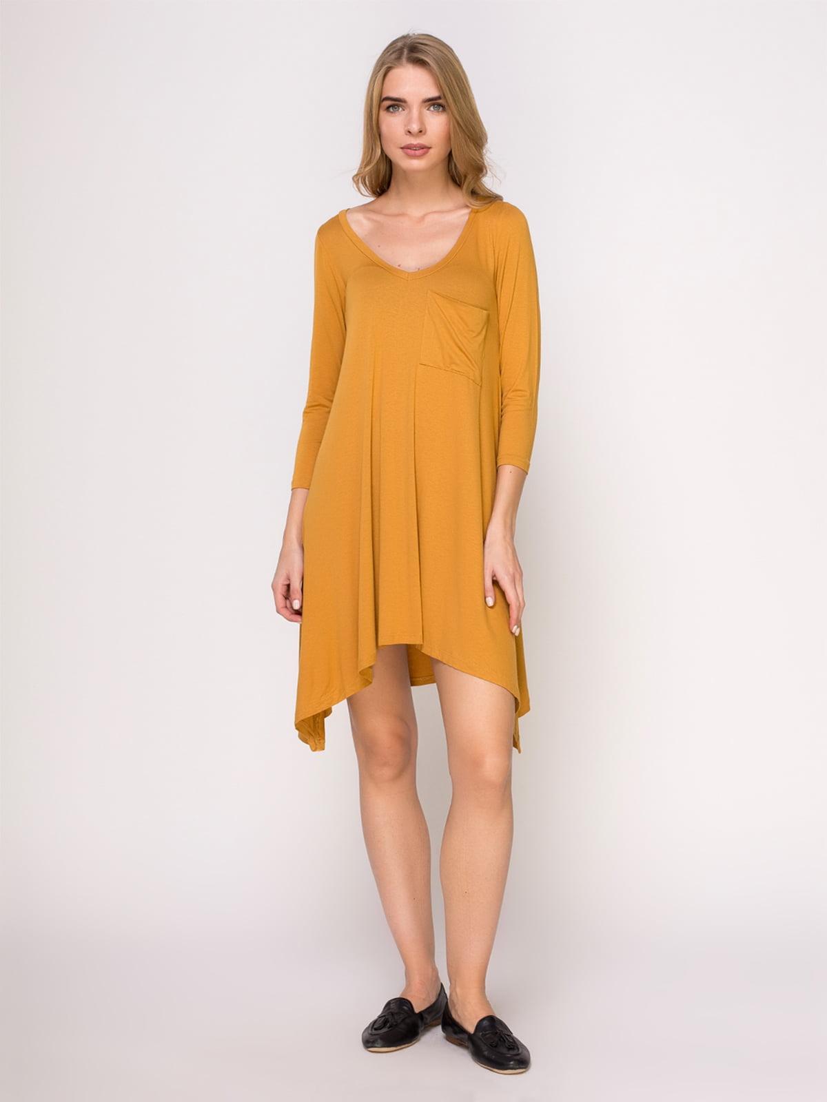 Сукня гірчичного кольору | 4621574