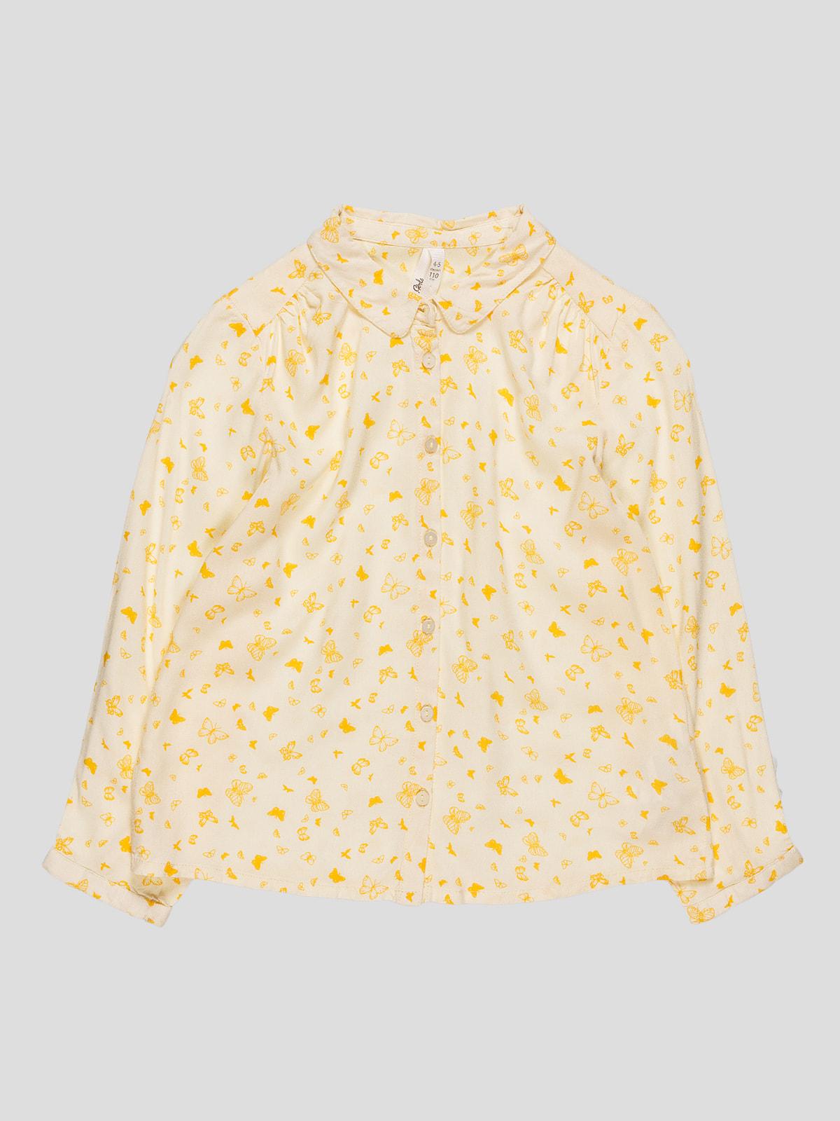 Сорочка жовта з принтом | 4622108