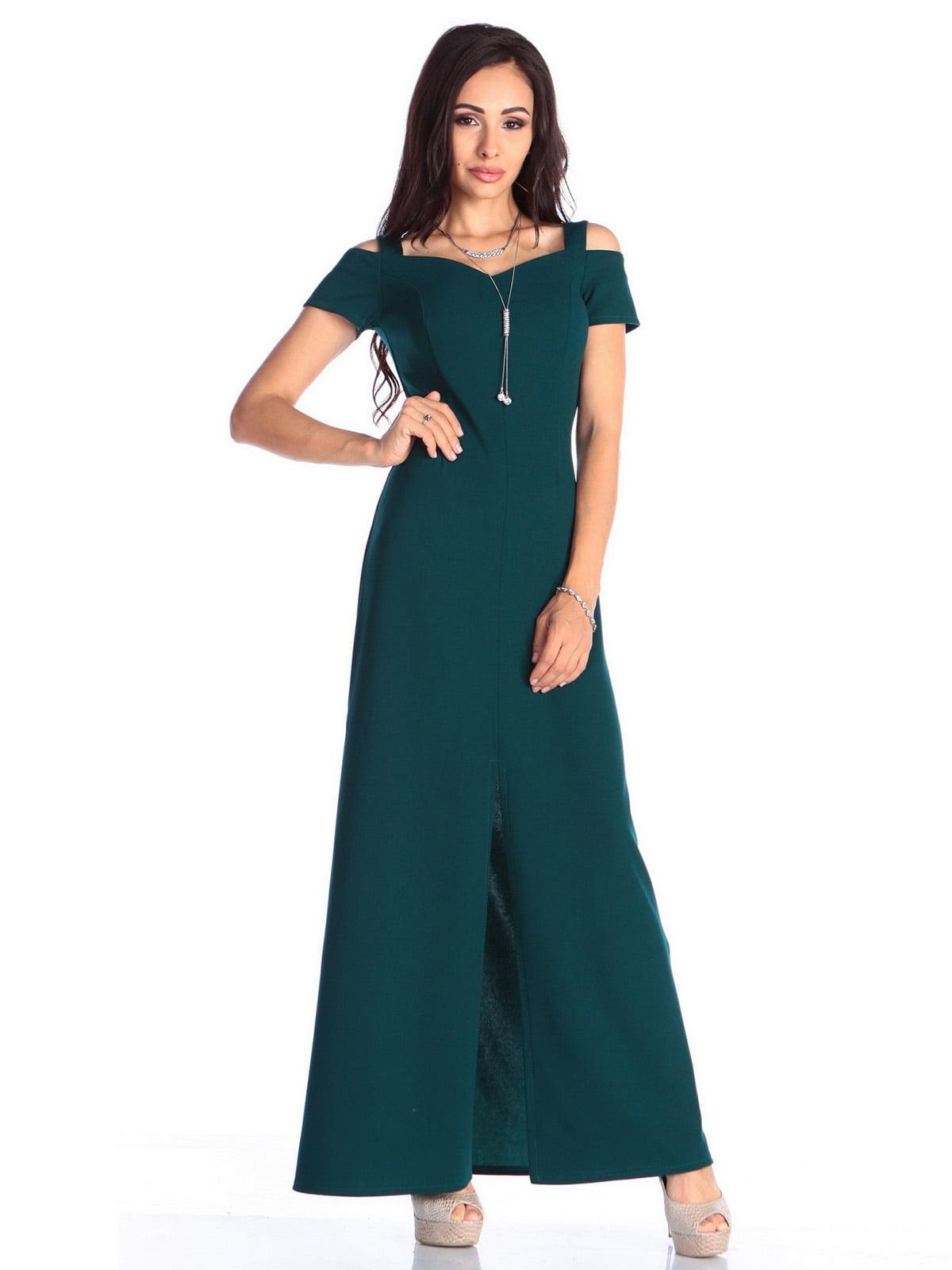 Платье темно-изумрудного цвета | 4636988
