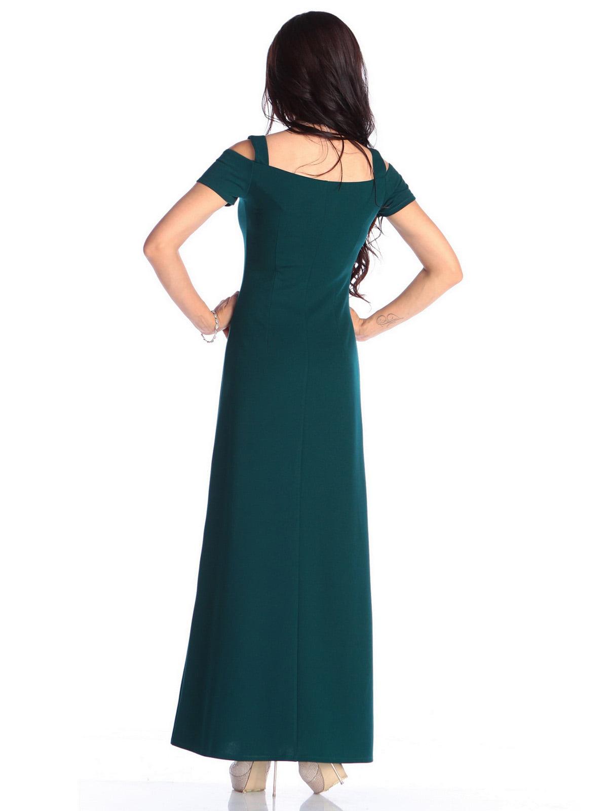 Платье темно-изумрудного цвета | 4636988 | фото 2