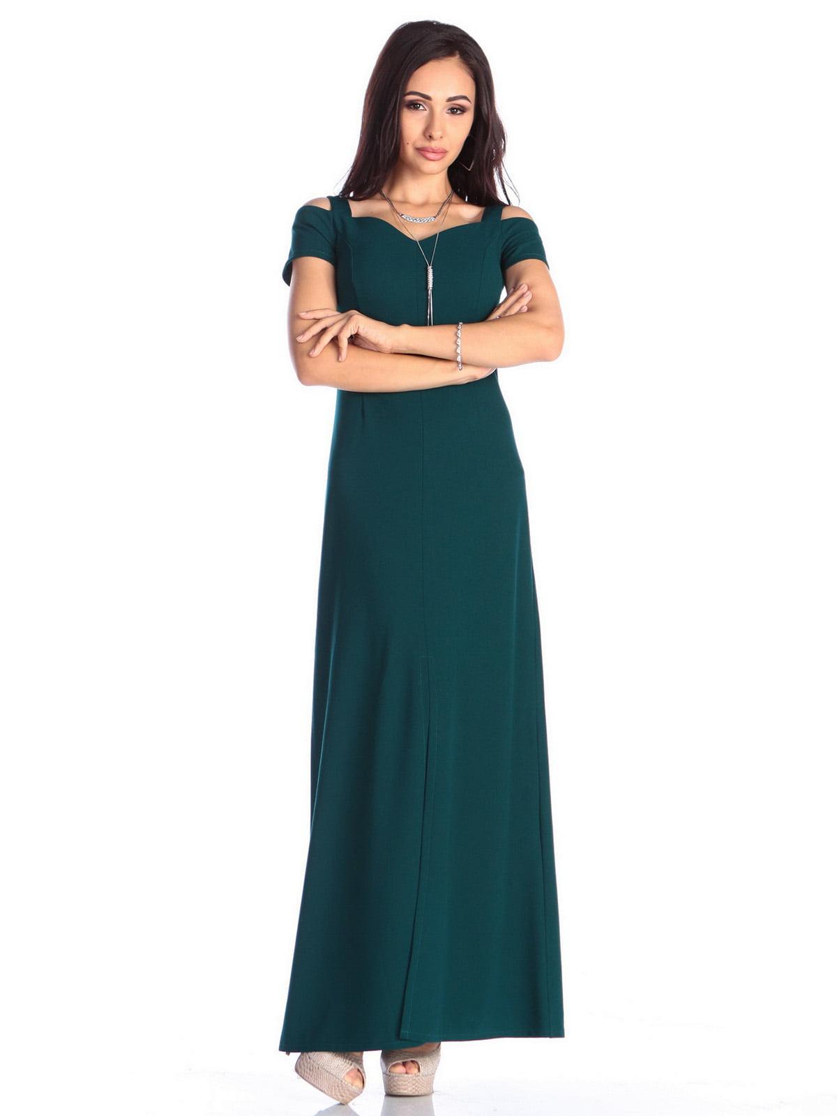 Платье темно-изумрудного цвета | 4636988 | фото 3