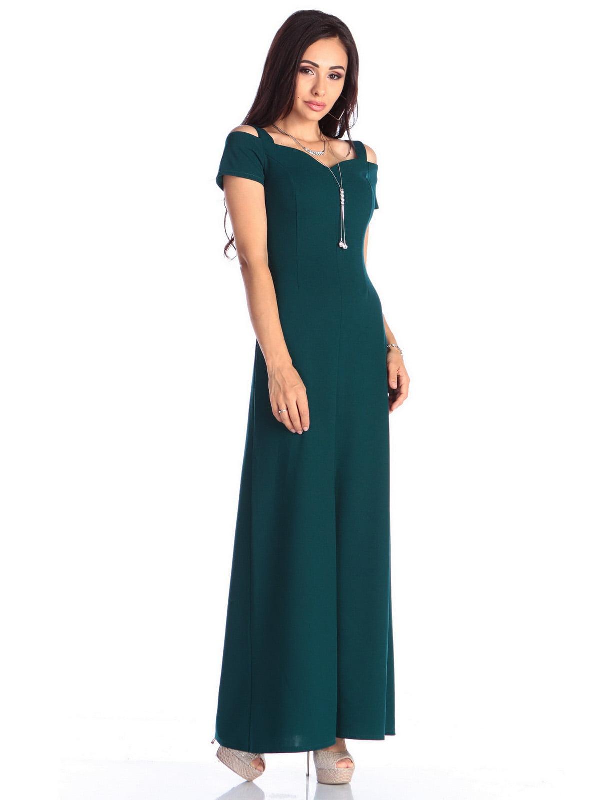 Платье темно-изумрудного цвета | 4636988 | фото 4