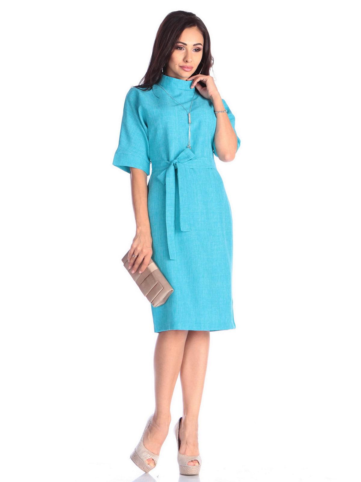 Платье ментолового цвета | 4637006 | фото 3