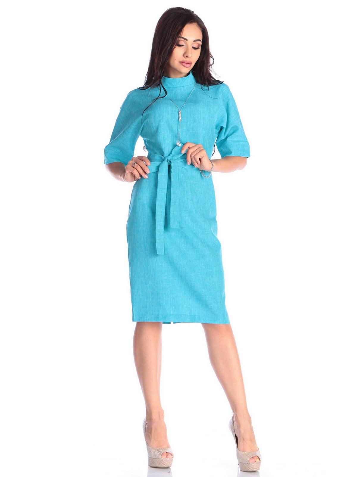 Платье ментолового цвета | 4637006 | фото 4