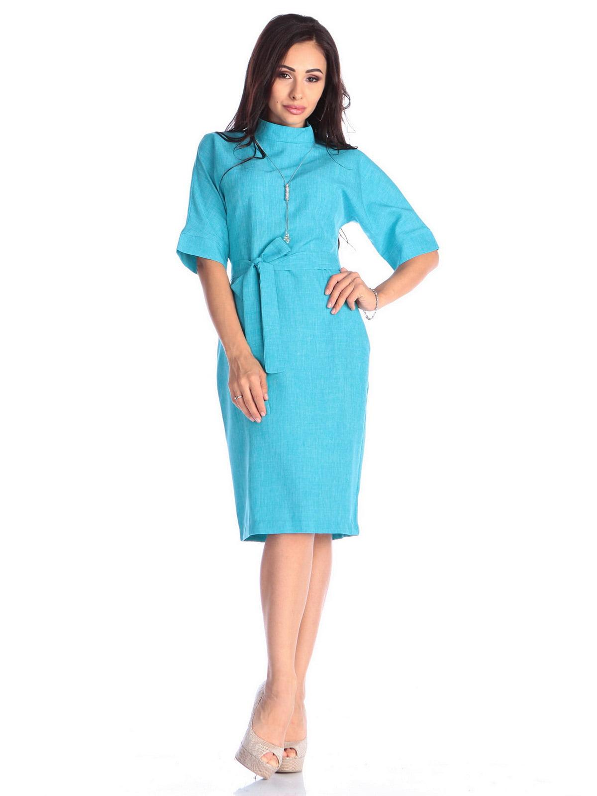 Платье ментолового цвета | 4637006 | фото 5