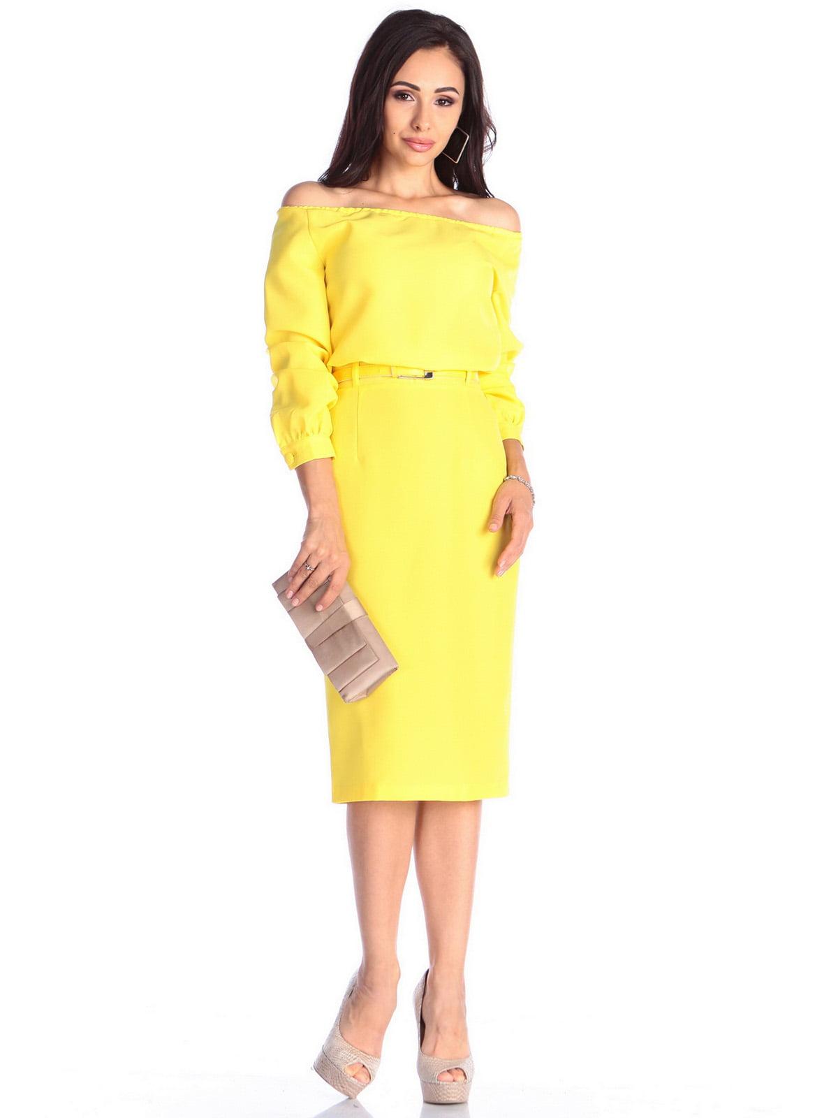 Платье солнечного цвета | 4637062 | фото 3