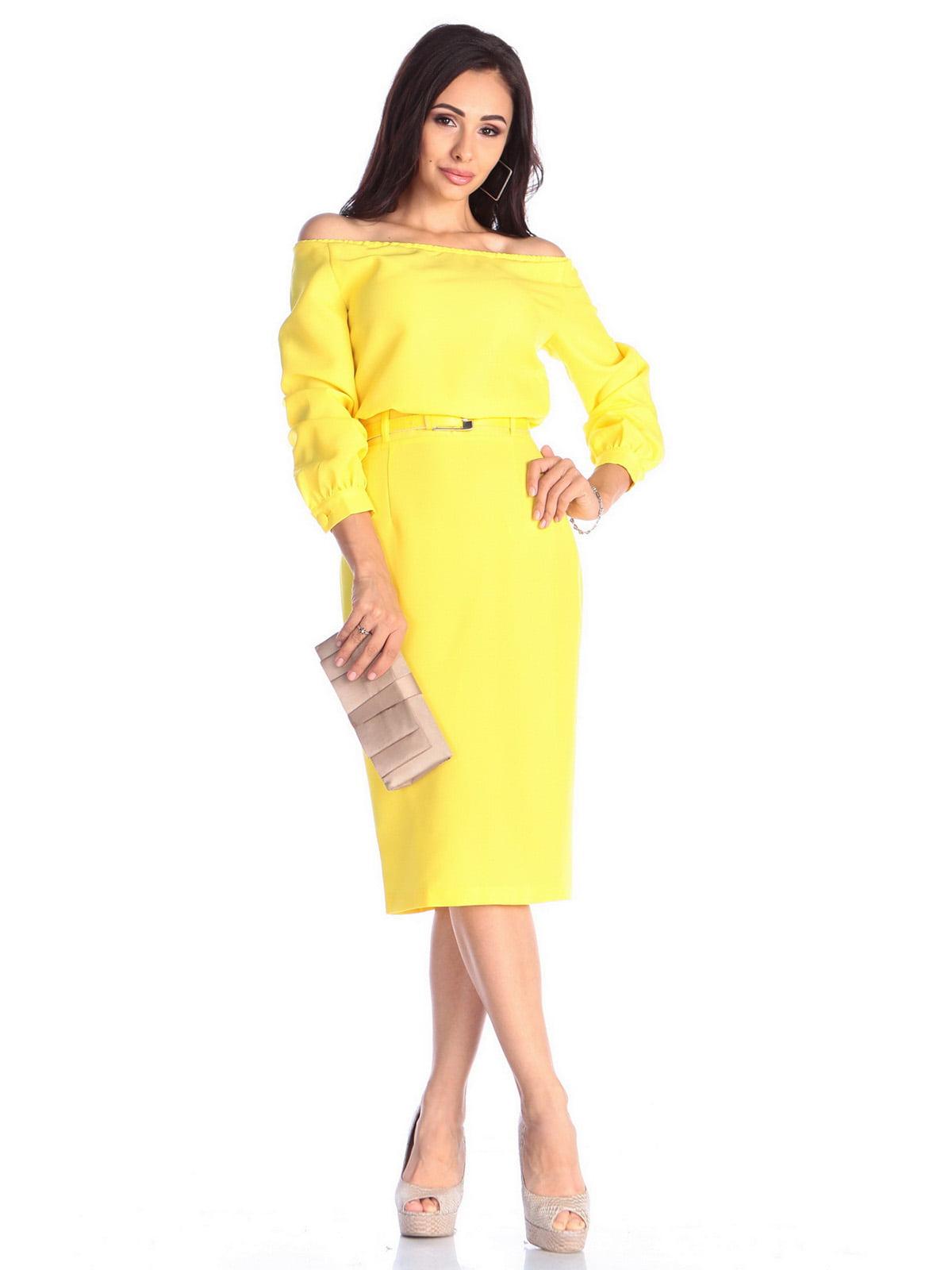 Платье солнечного цвета | 4637062 | фото 4