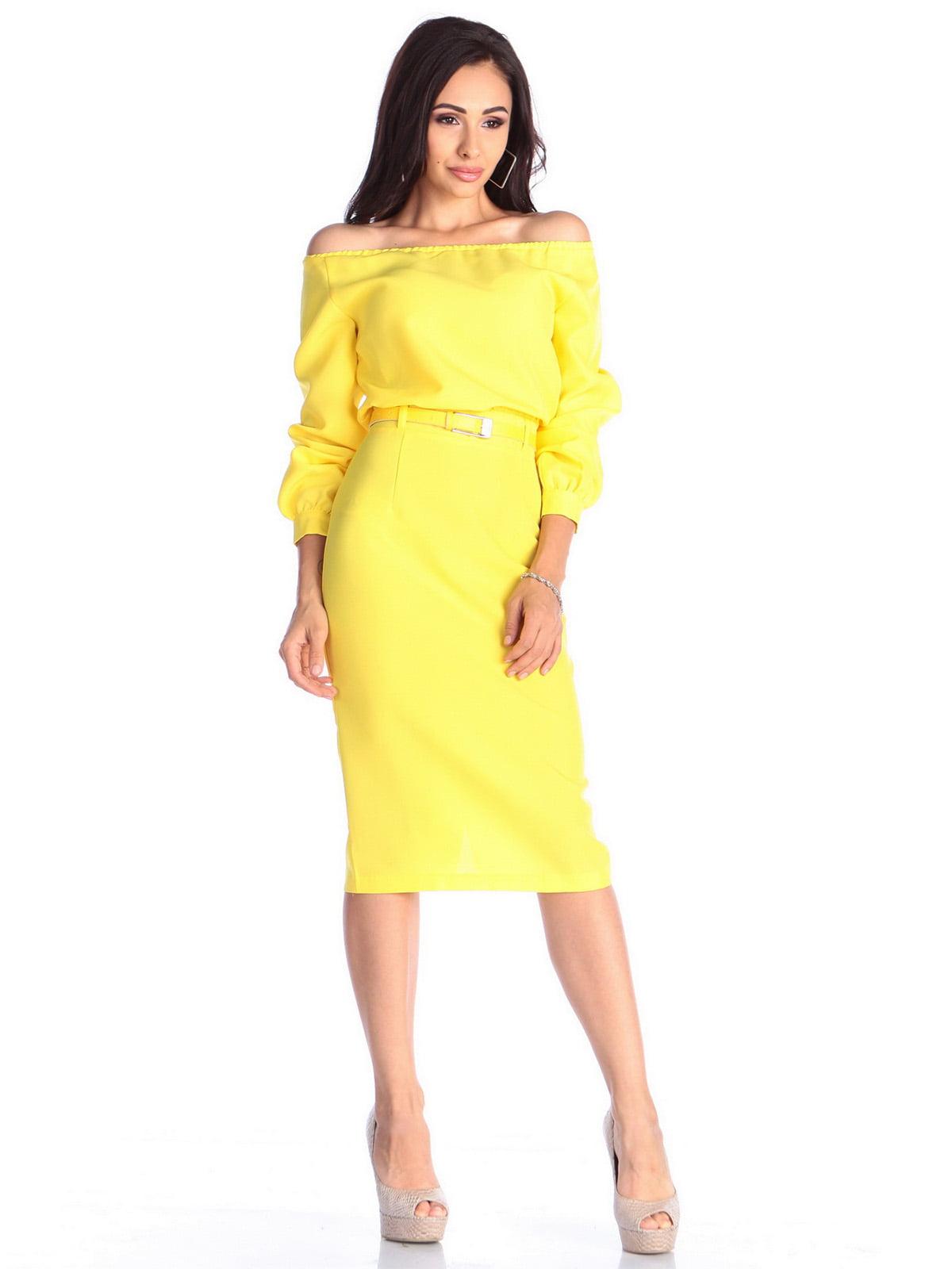 Платье солнечного цвета | 4637062 | фото 5