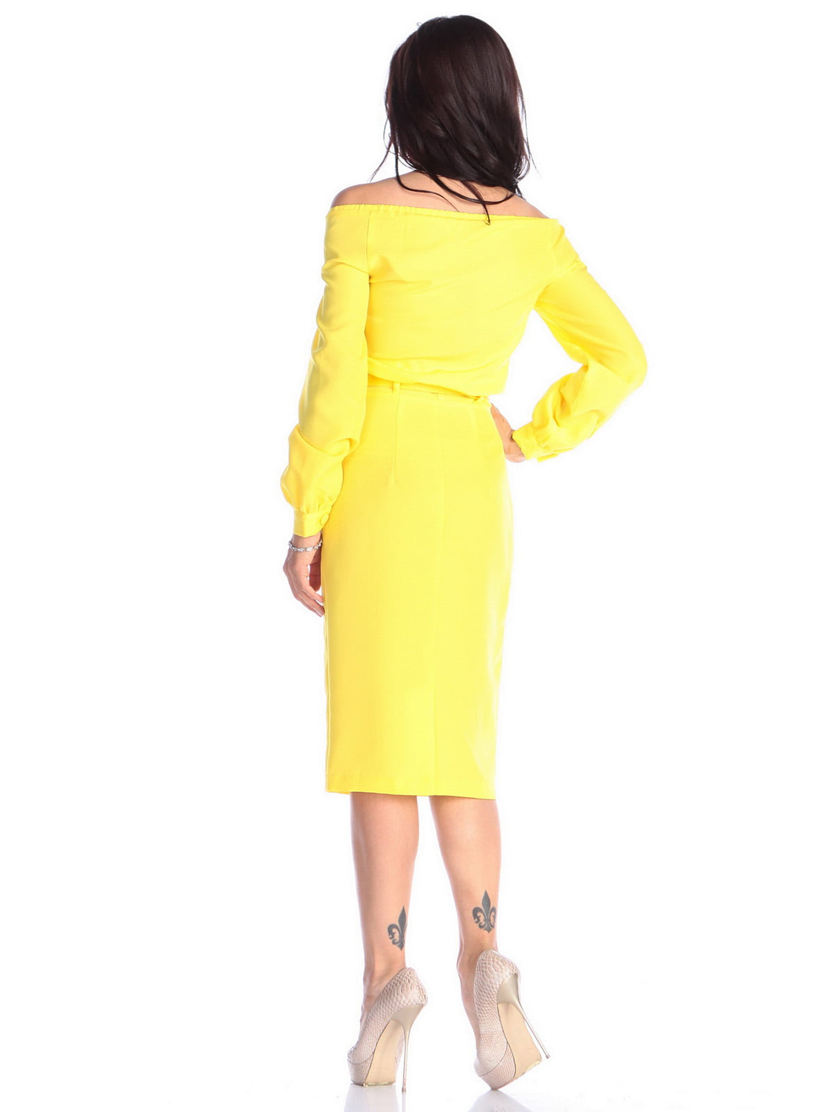 Платье солнечного цвета | 4637062 | фото 2