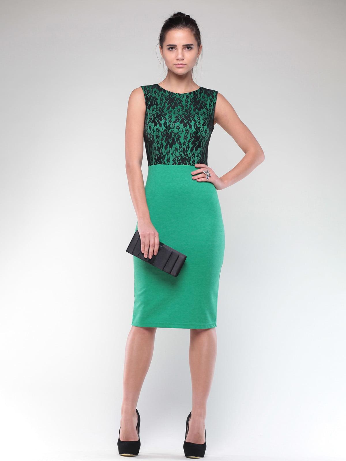 Платье зелено-черного цвета | 4637076