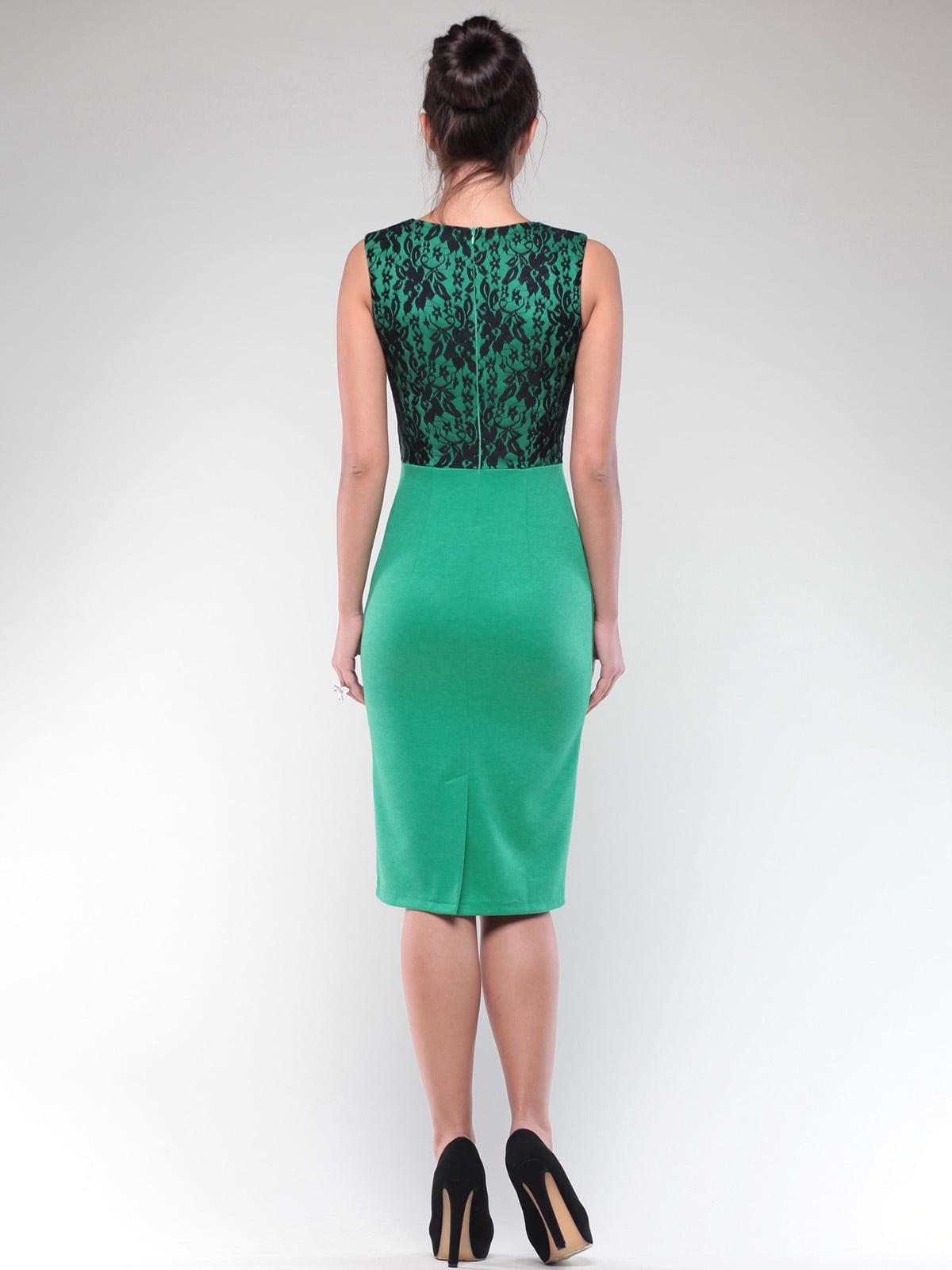 Платье зелено-черного цвета | 4637076 | фото 2