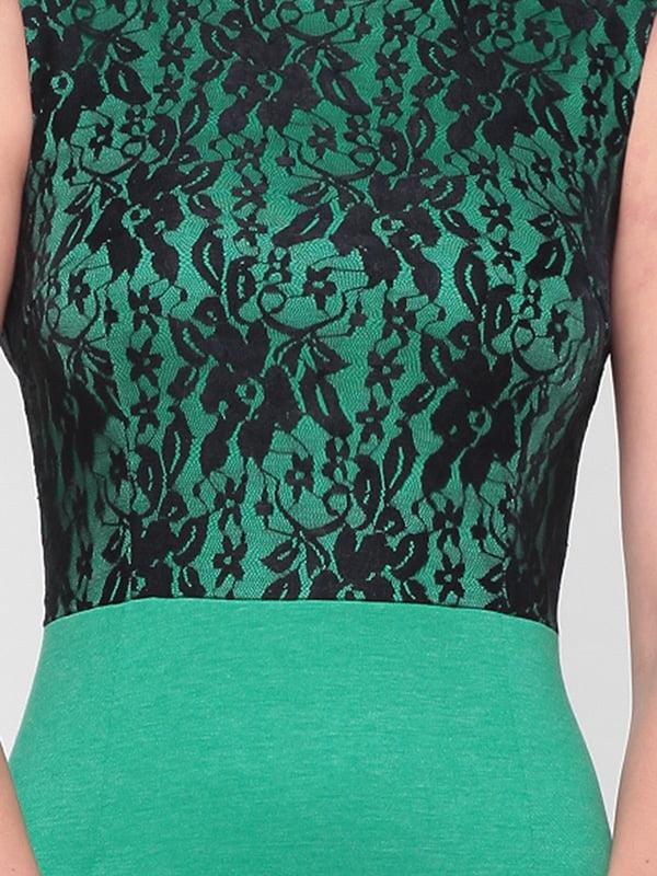 Платье зелено-черного цвета | 4637076 | фото 3