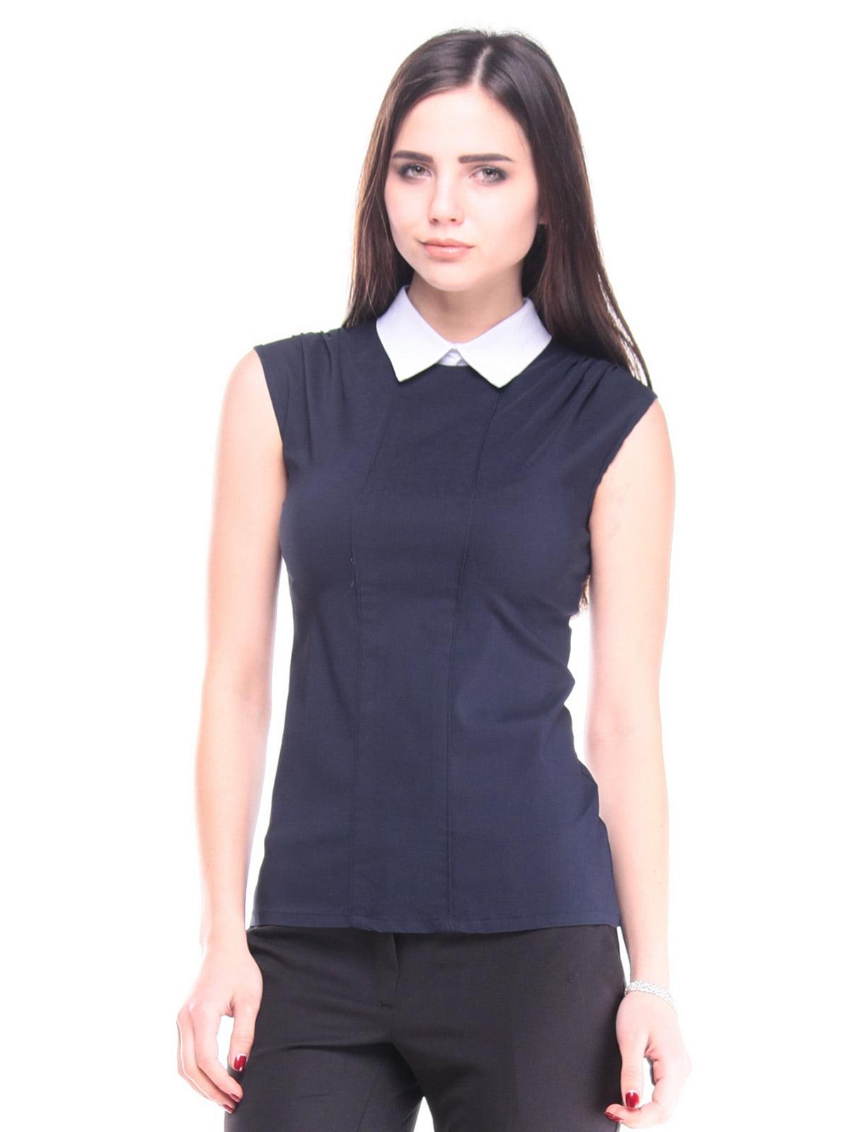 Блуза темно-синього кольору | 4648607