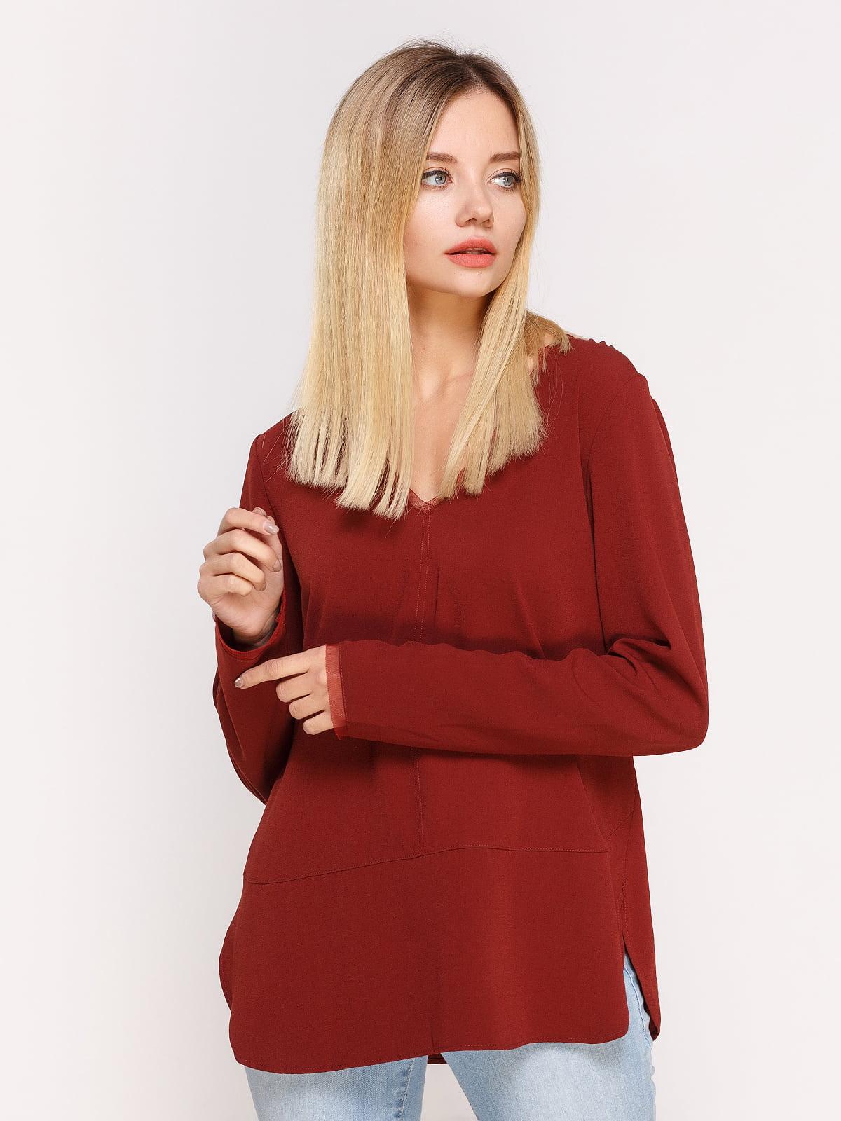 Пуловер цегляного кольору | 4622541