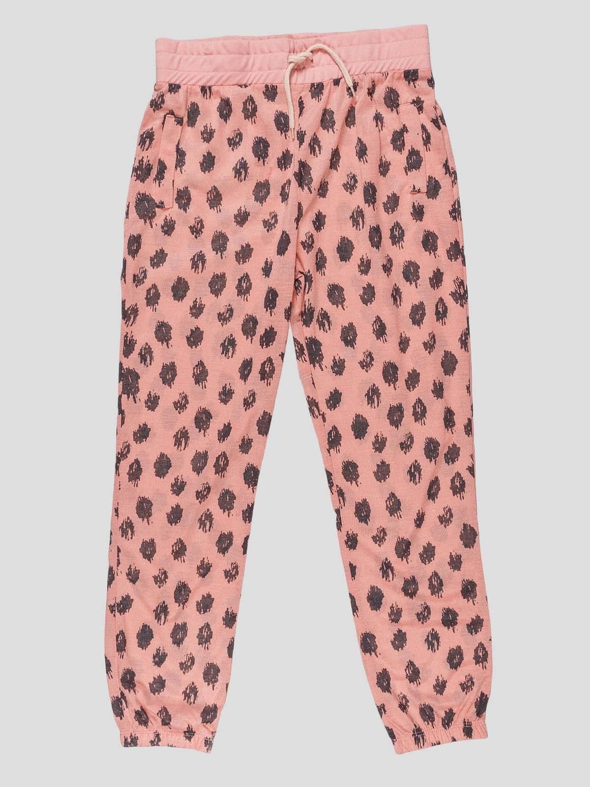 Штани рожеві з принтом | 4621761
