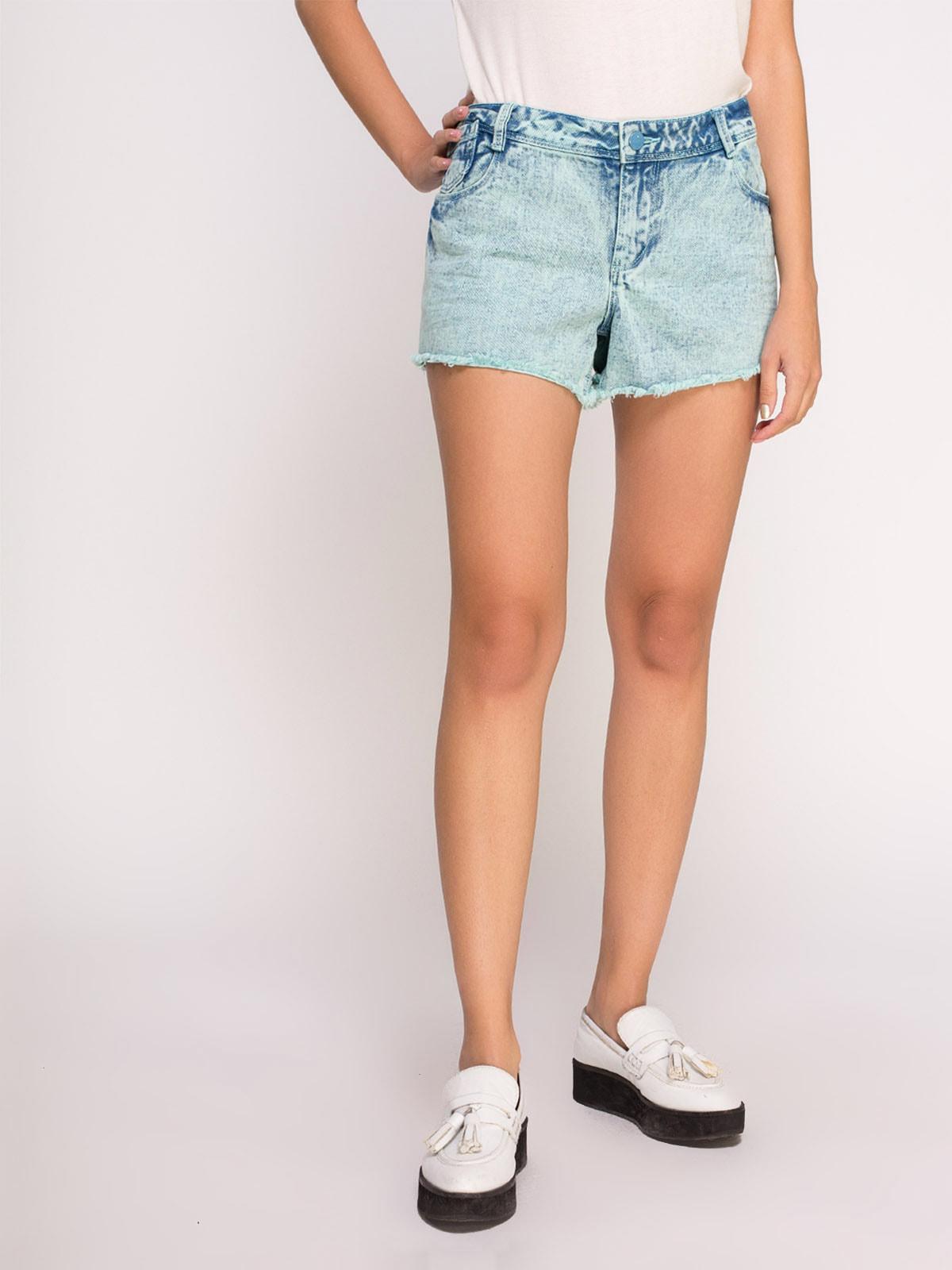 Шорты зелено-голубые джинсовые | 4624006