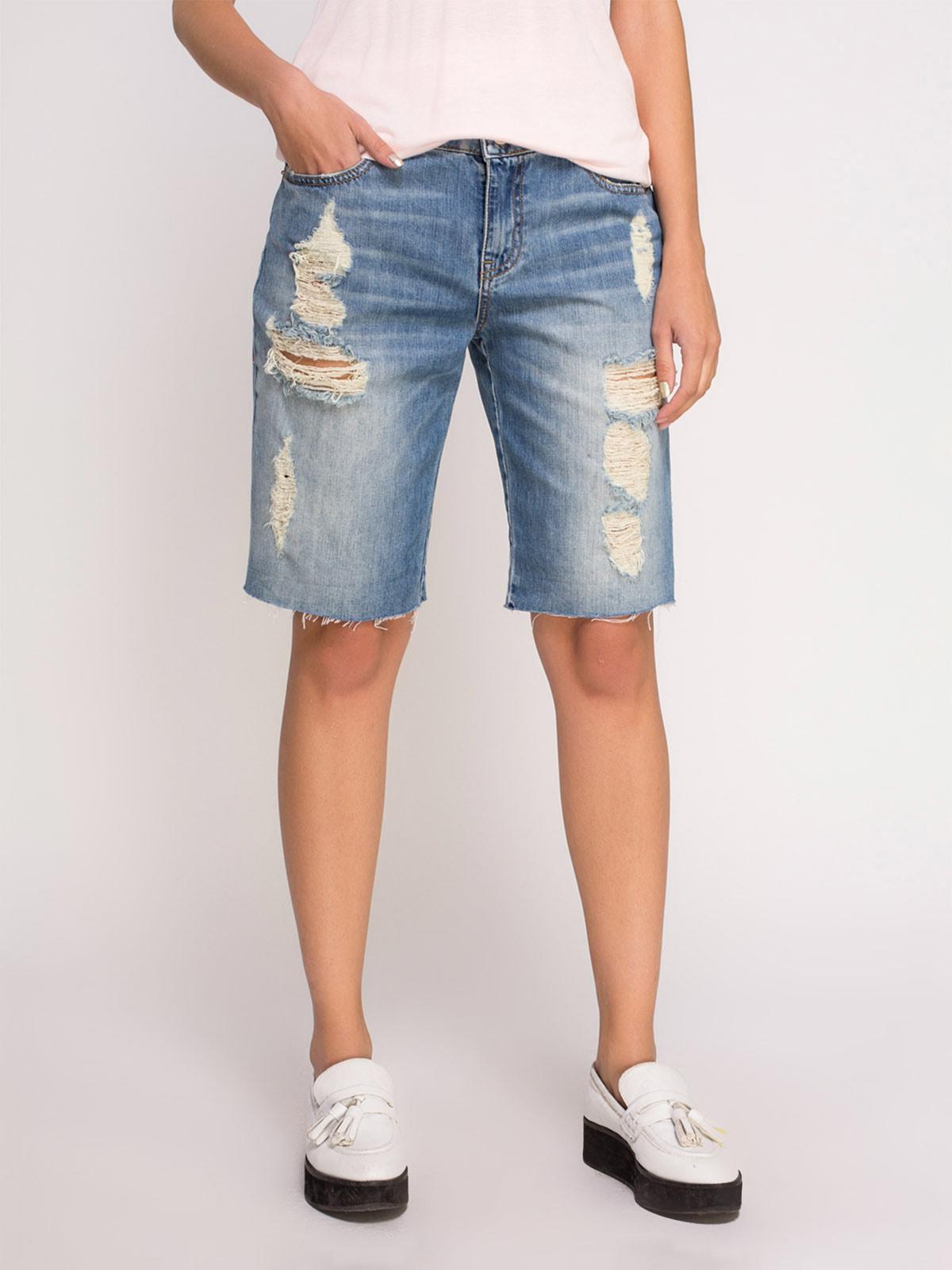 Шорты голубые джинсовые | 4635324