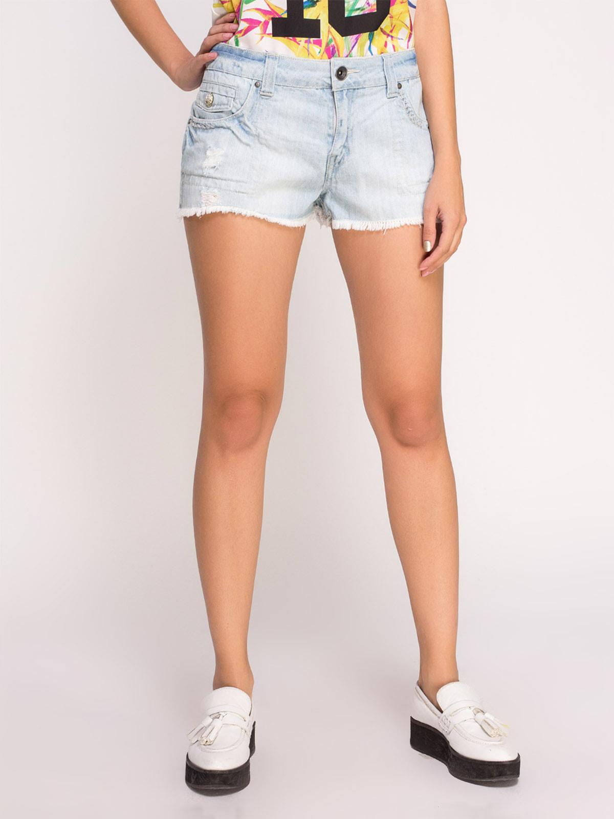 Шорты голубые джинсовые   4634987