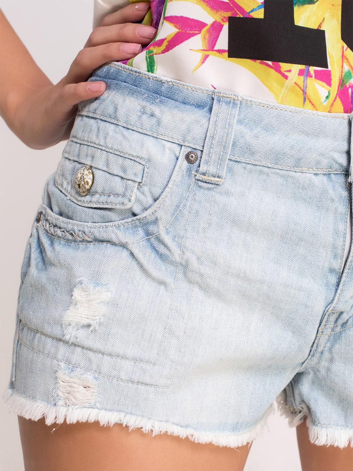 Шорты голубые джинсовые   4634987   фото 4