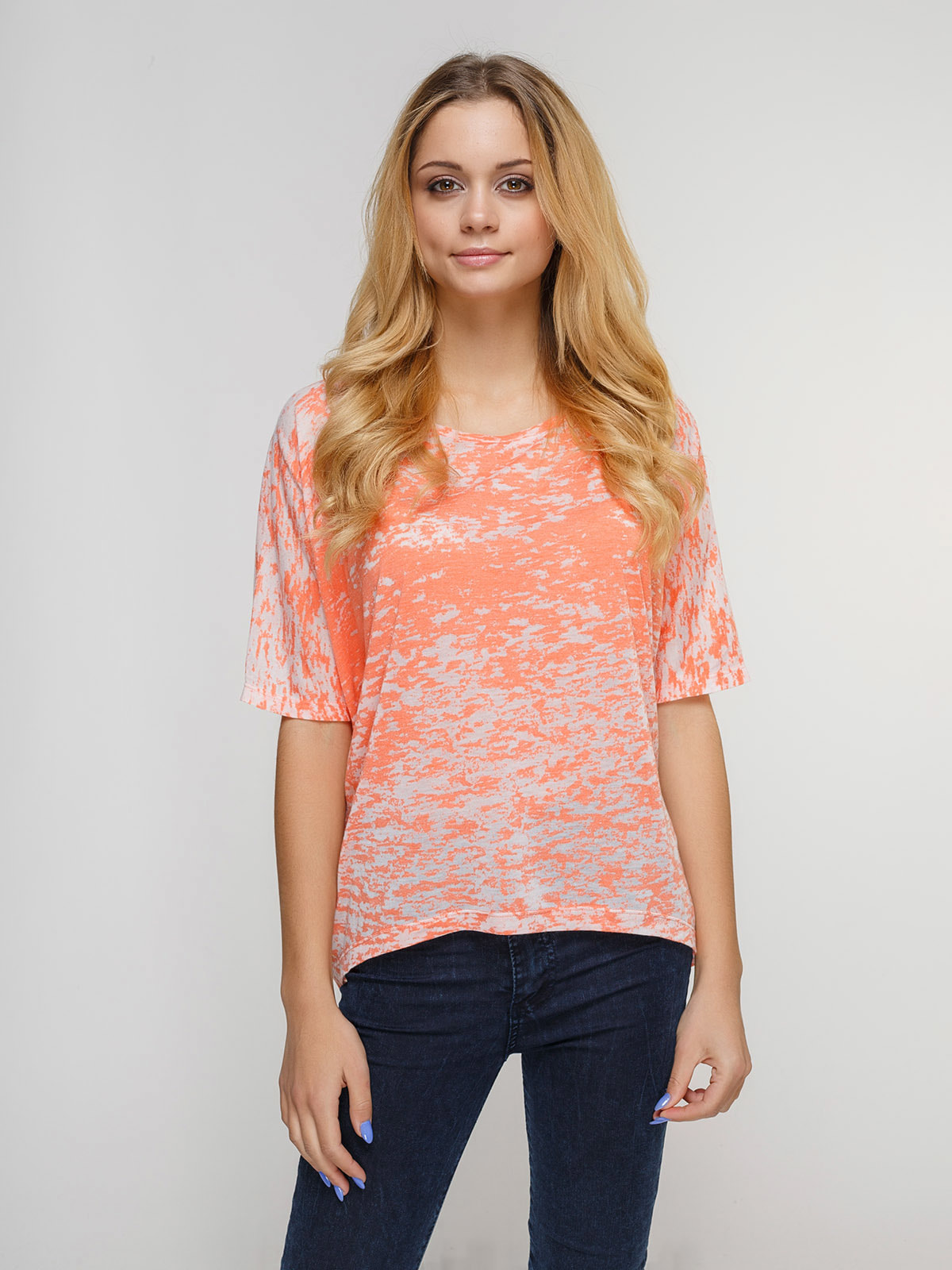 Блуза коралловая | 4623374
