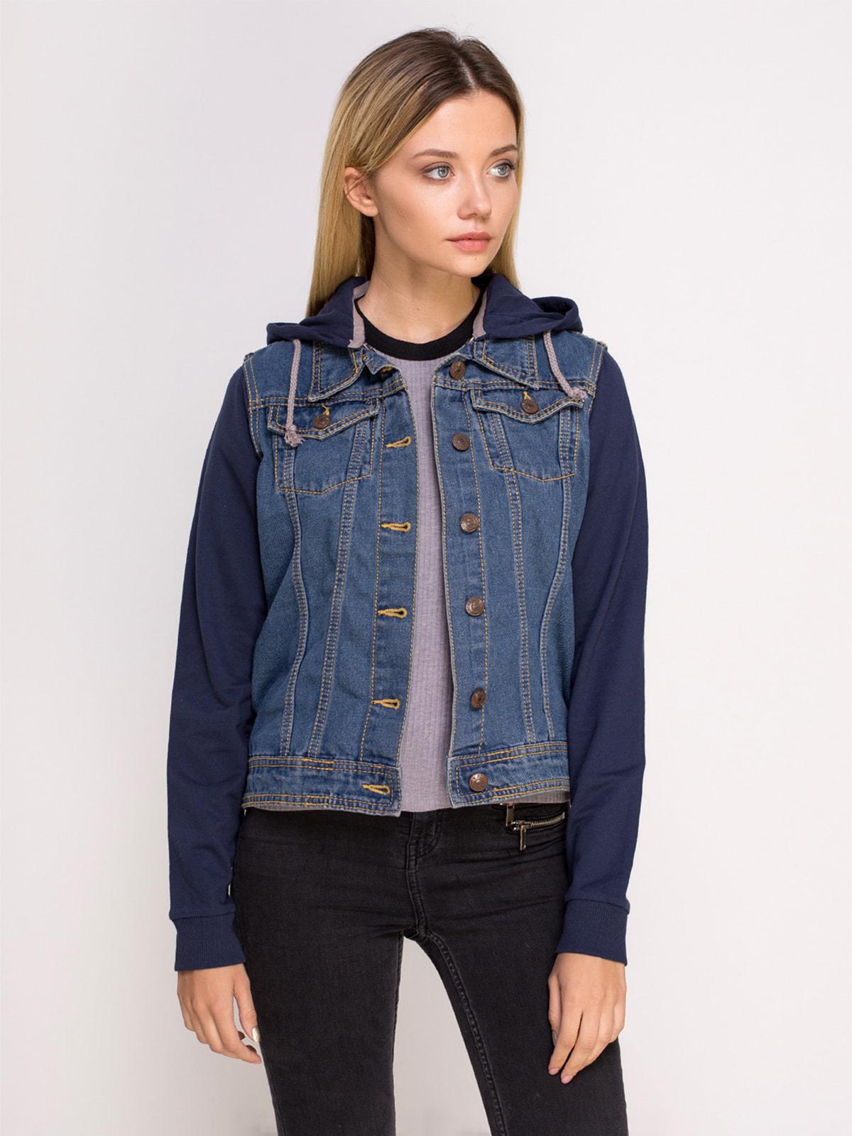Куртка синя джинсова | 4626980