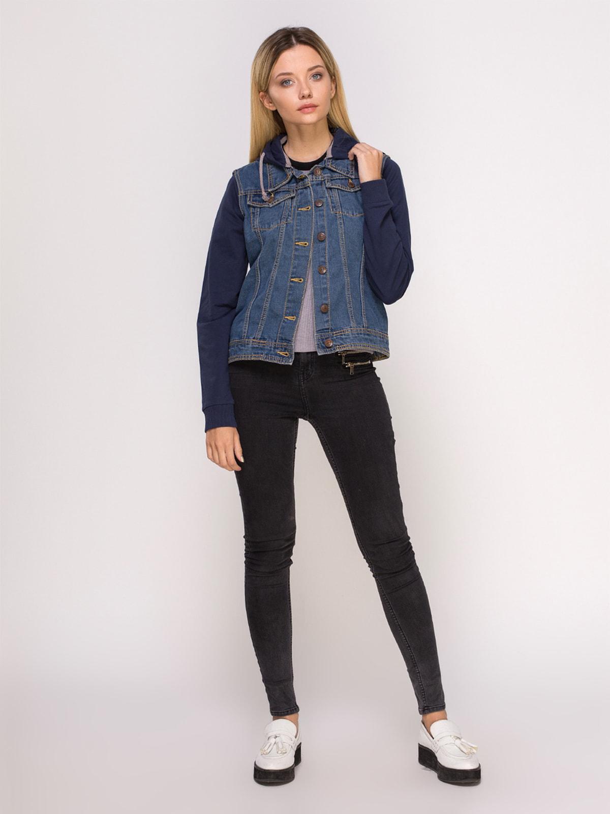 Куртка синя джинсова | 4626980 | фото 2