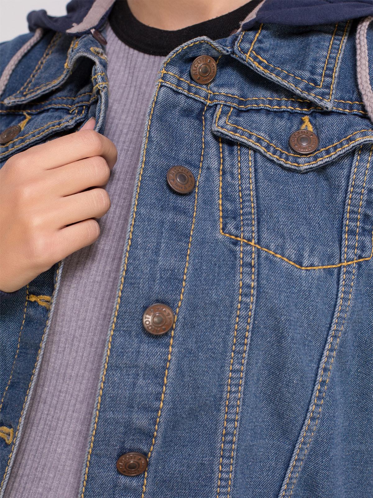 Куртка синя джинсова | 4626980 | фото 4
