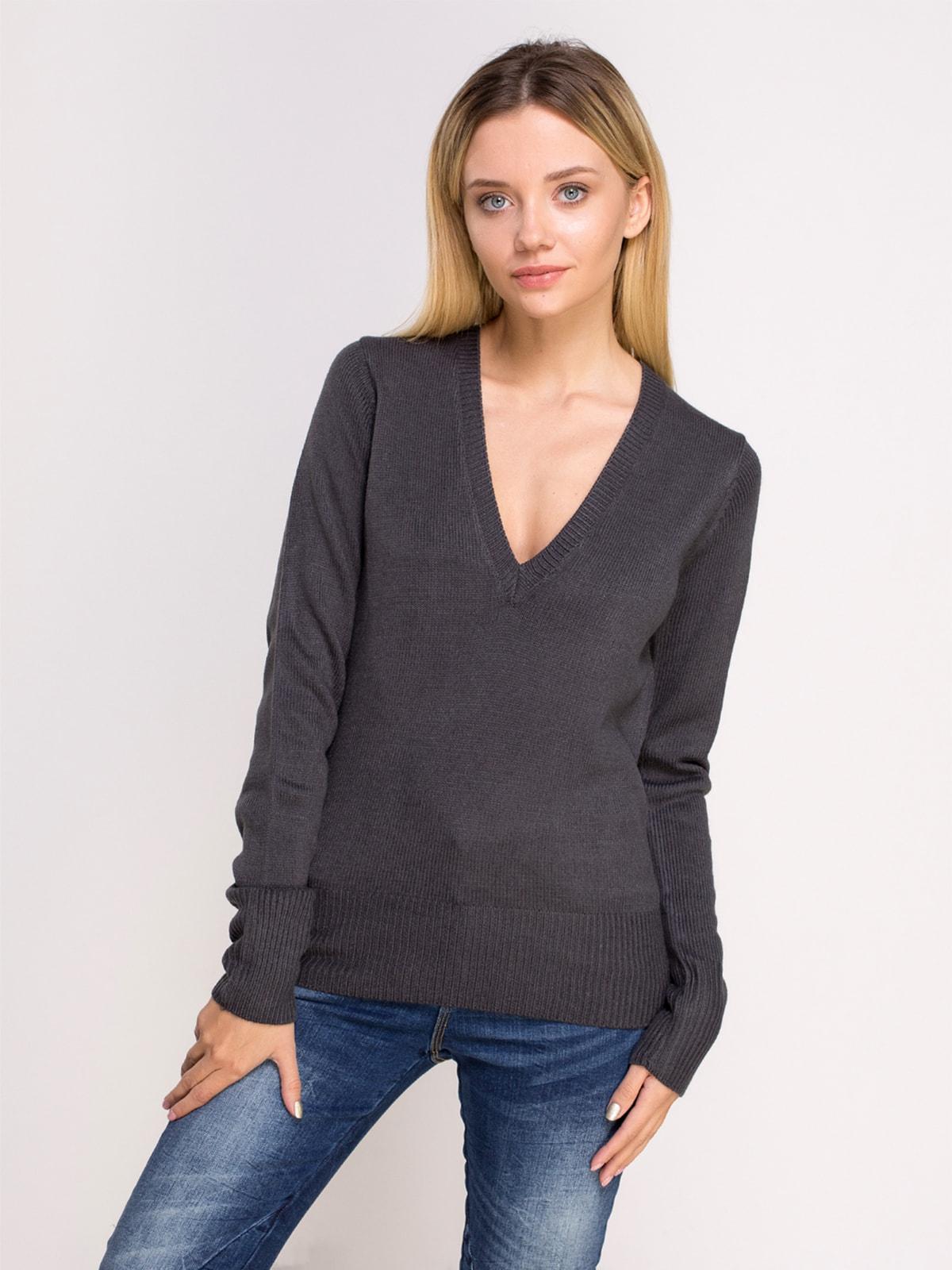 Пуловер темно-сірий | 4624926