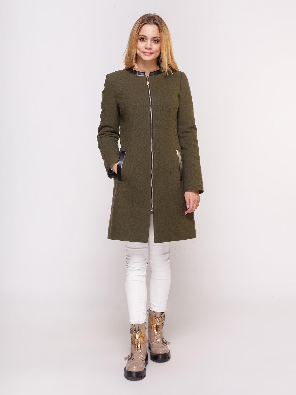 Пальто оливкового цвета   4658406   фото 2