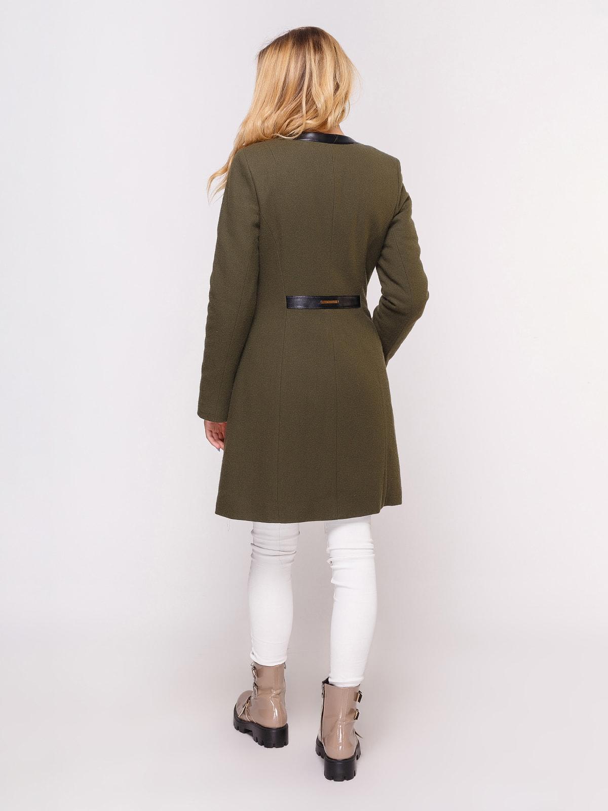 Пальто оливкового цвета   4658406   фото 3