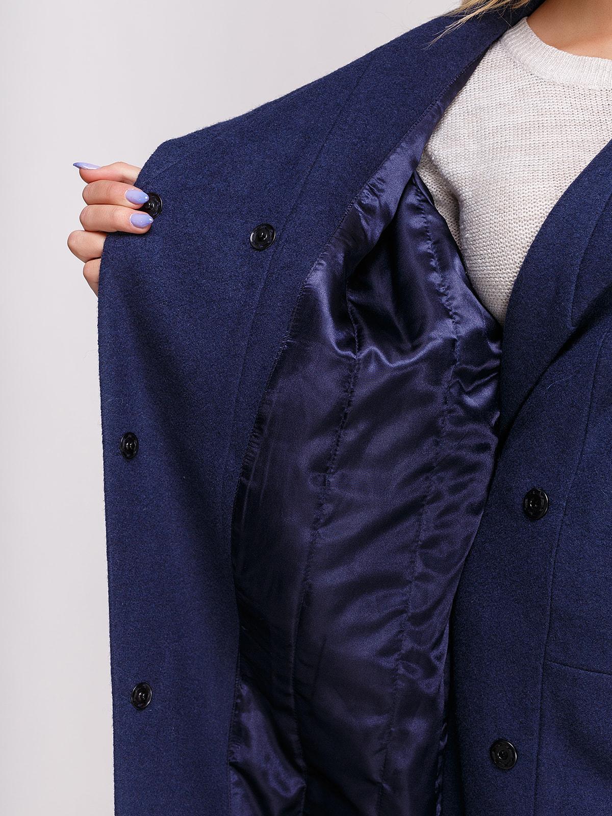 Пальто темно-синее | 4658408 | фото 4